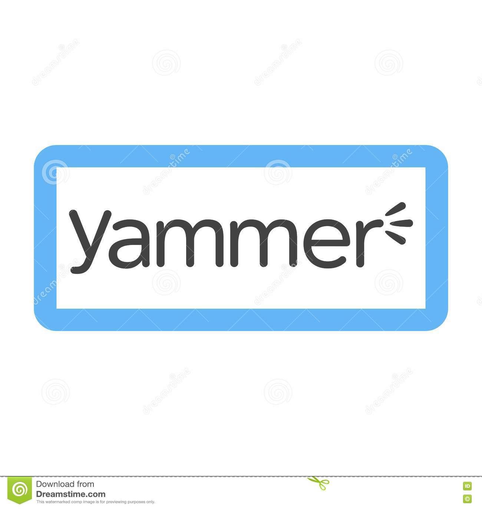 Yammer Redaktionelles Stockfotografie Illustration Von Ikone 80942452