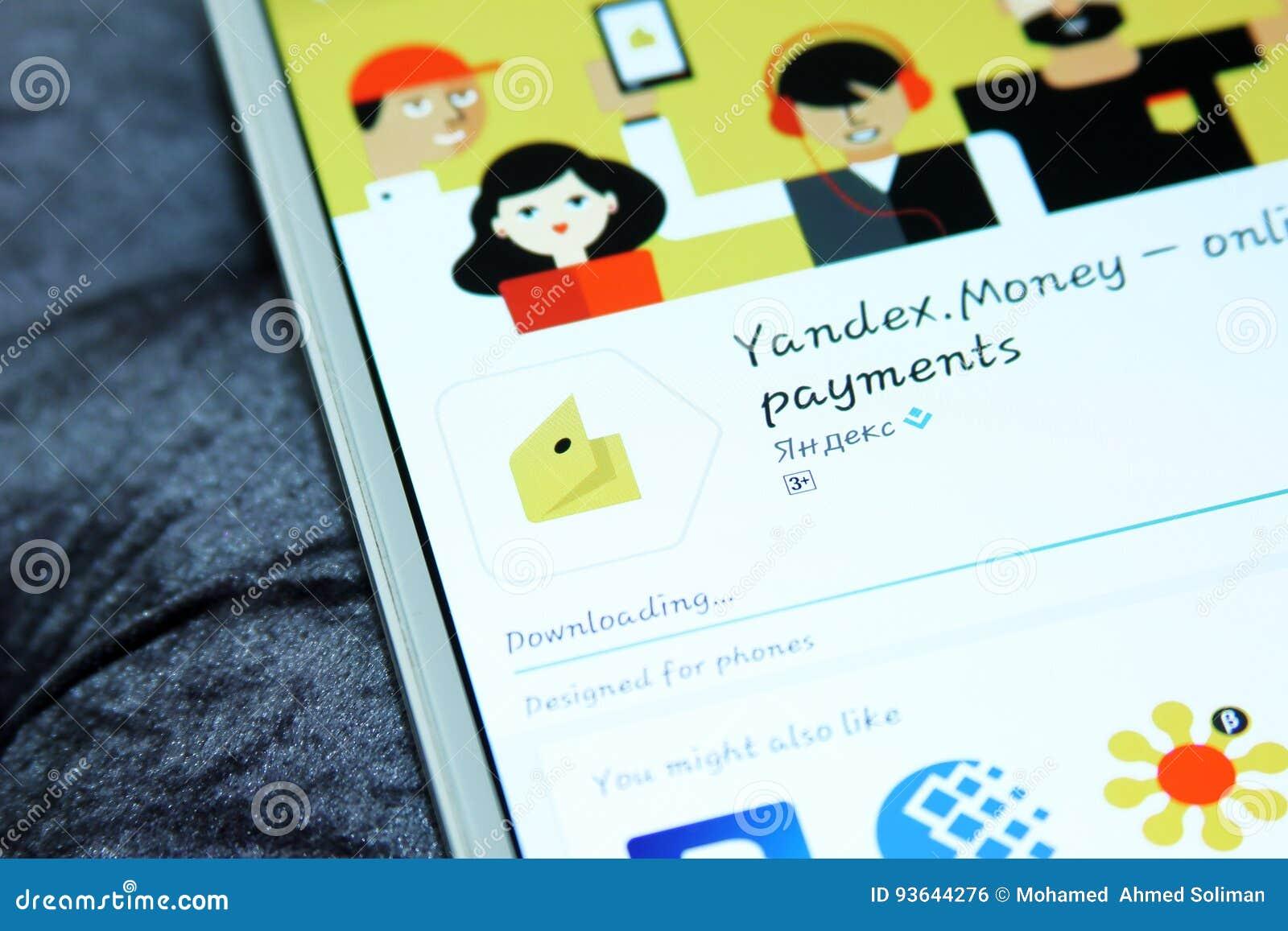 Yandex money mobile app editorial photo  Image of mobile