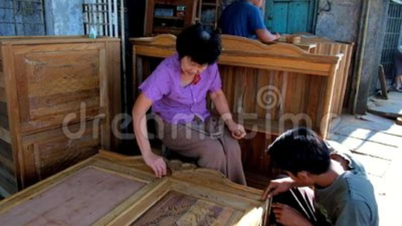 Production Of Handmade Wooden Furniture In Chinatown Of Yangon, Myanmar  Stock Video   Video Of Production, Filler: 124648133