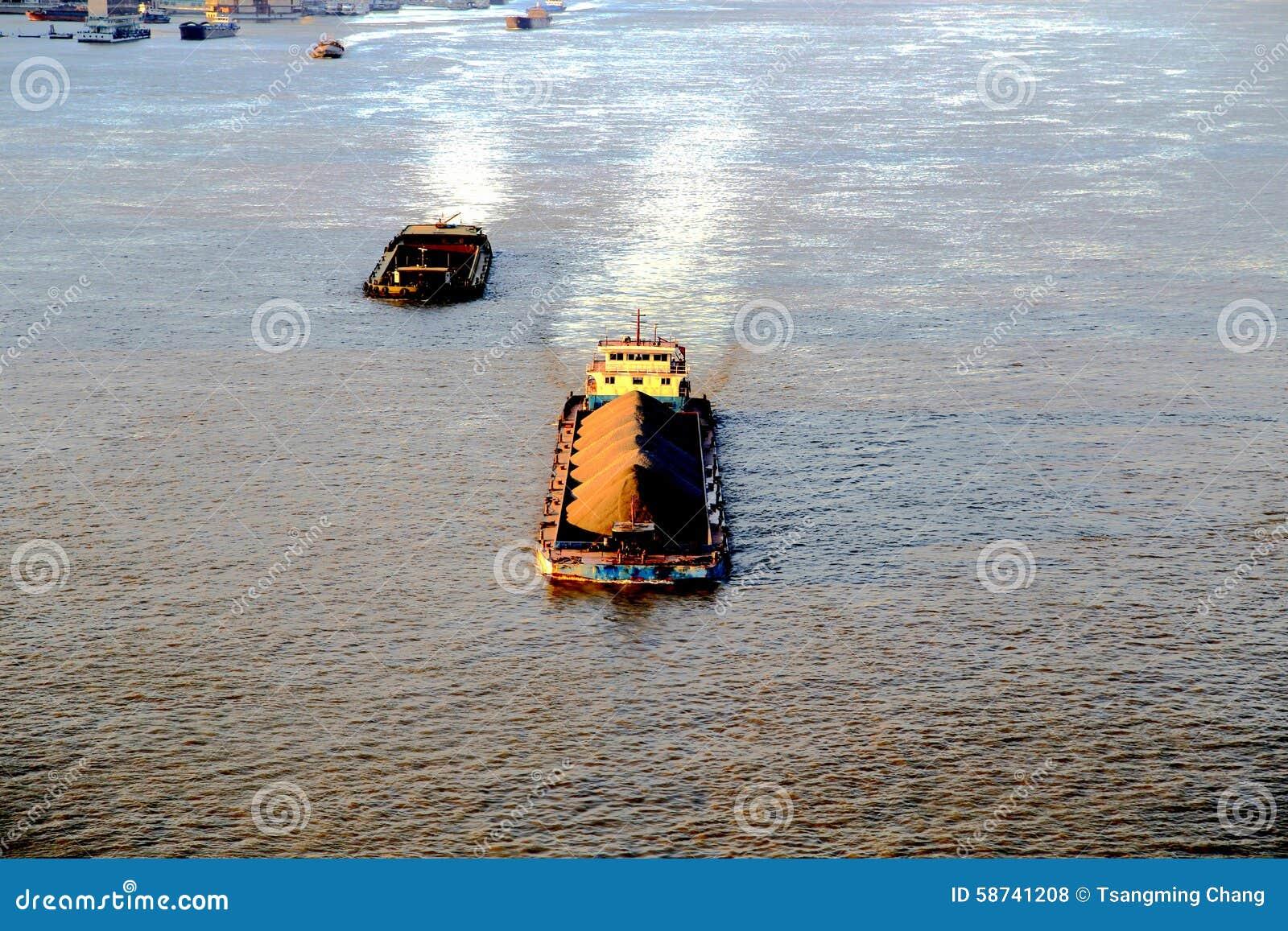 The Yangtze river in Wuhan city