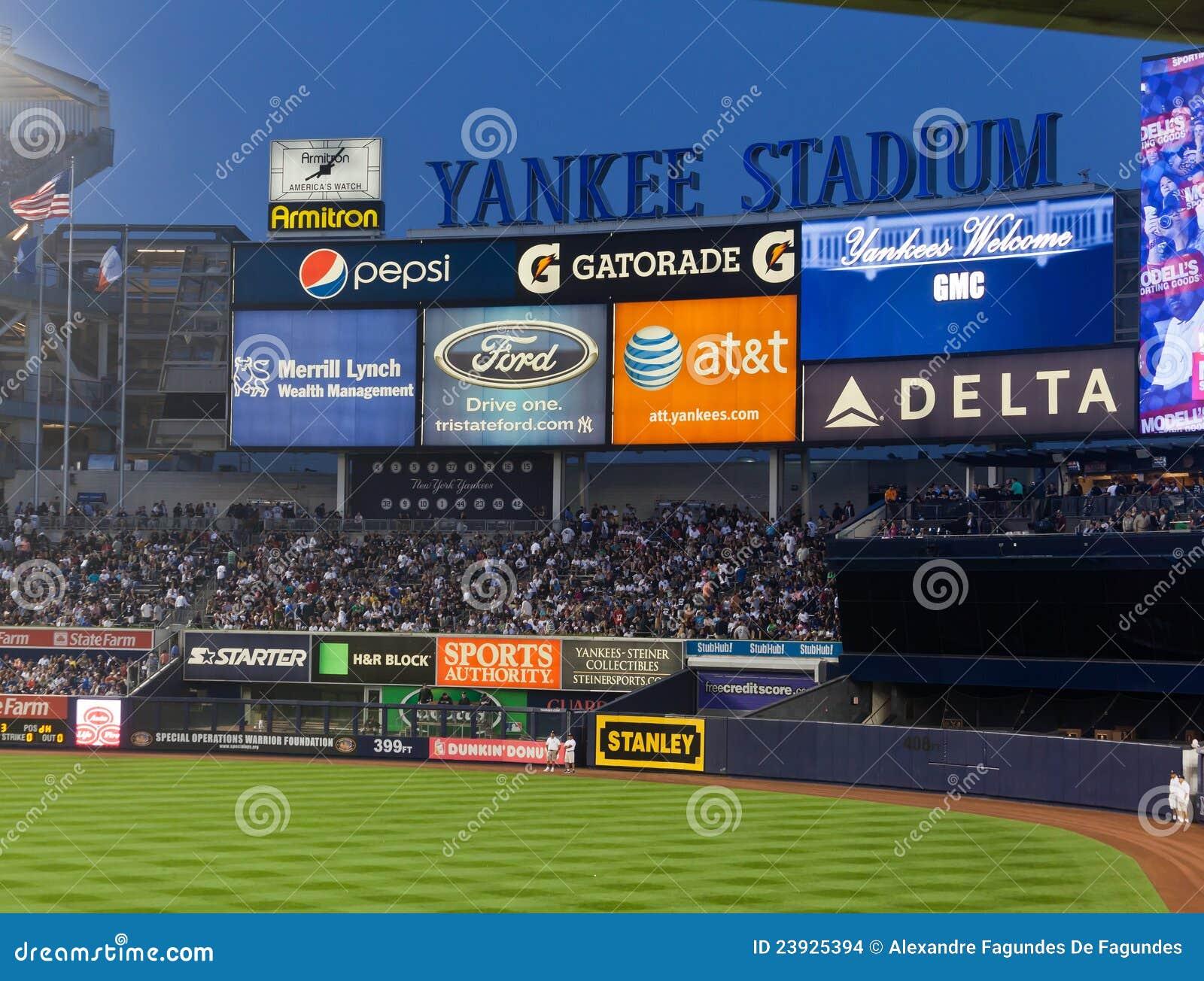 Madison Square Garden: Yankee Baseball Stadium New York City Editorial Stock