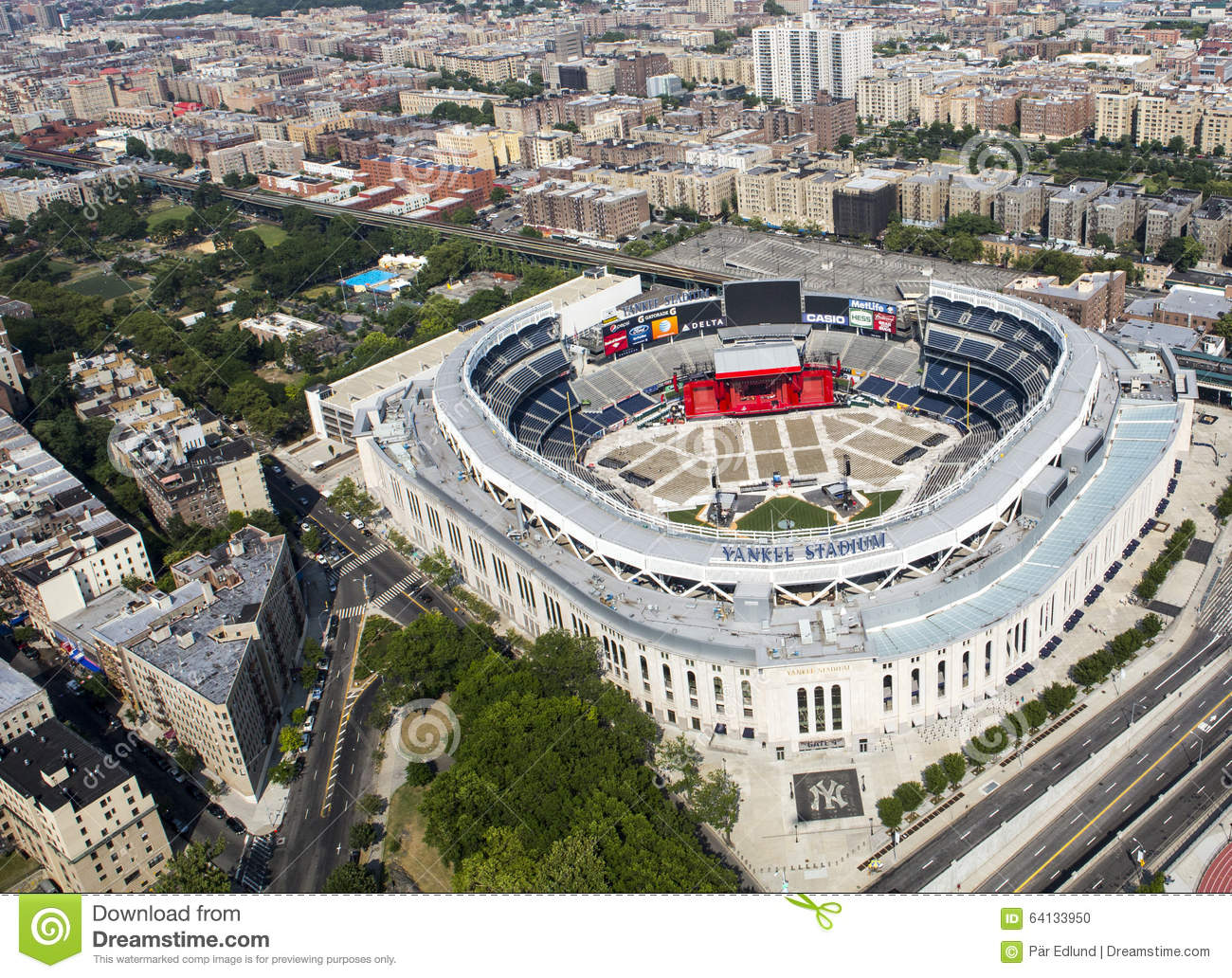 Yankee Stadium From Air. Editorial Image - Image: 64133950