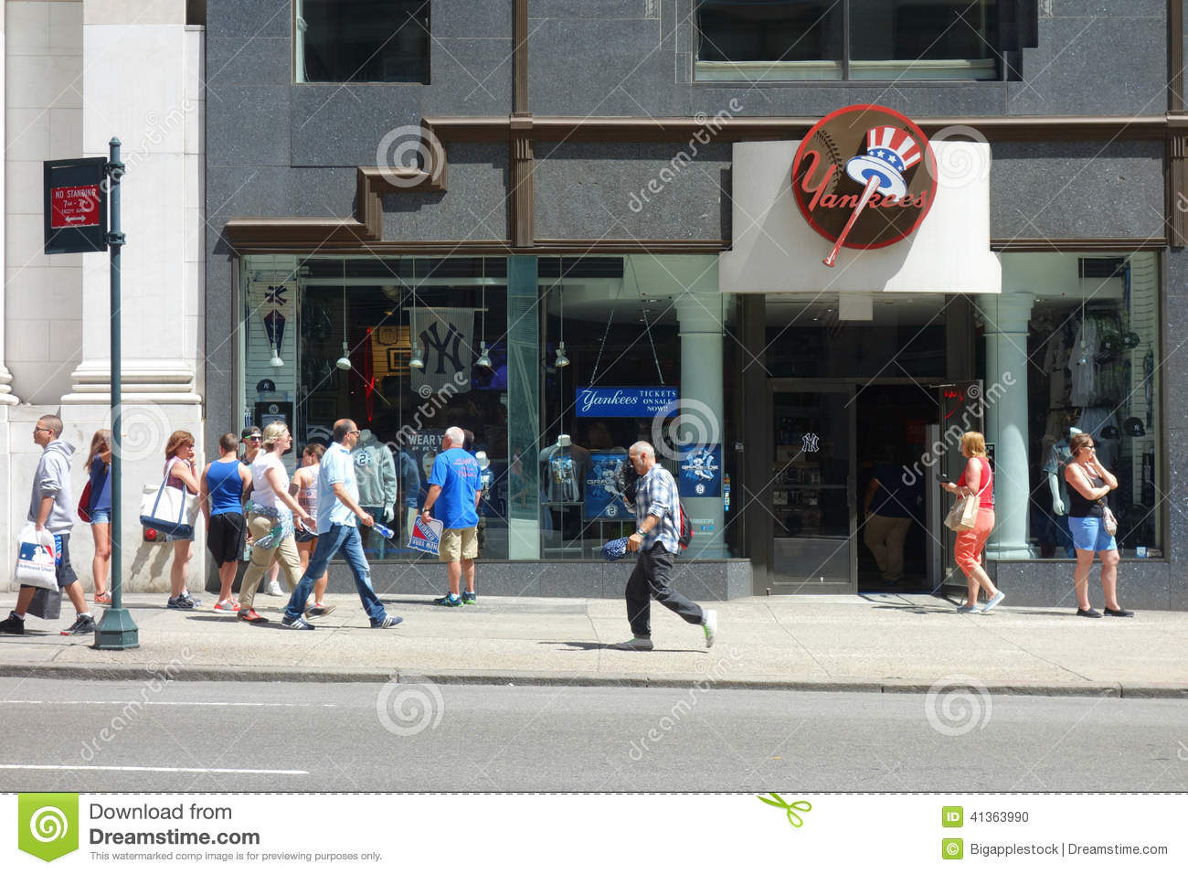 A store on Fifth Avenue that sells merchandise related to the New York  Yankees d7871a52e4c