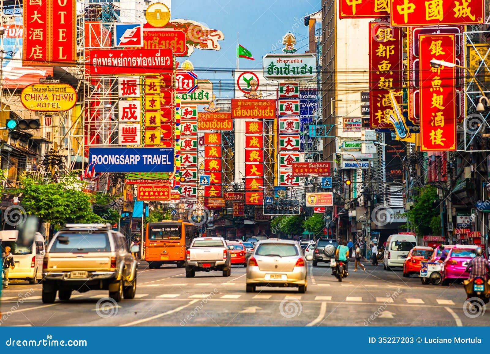 Yaowarat väg, Bangkok