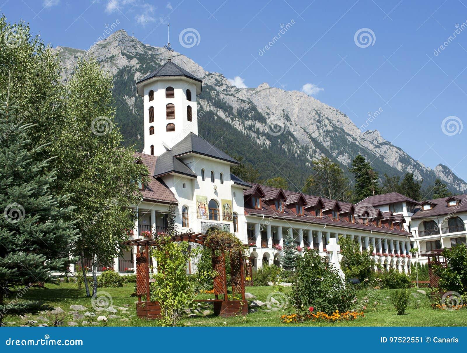 Yard of Caraiman orthodox monastery