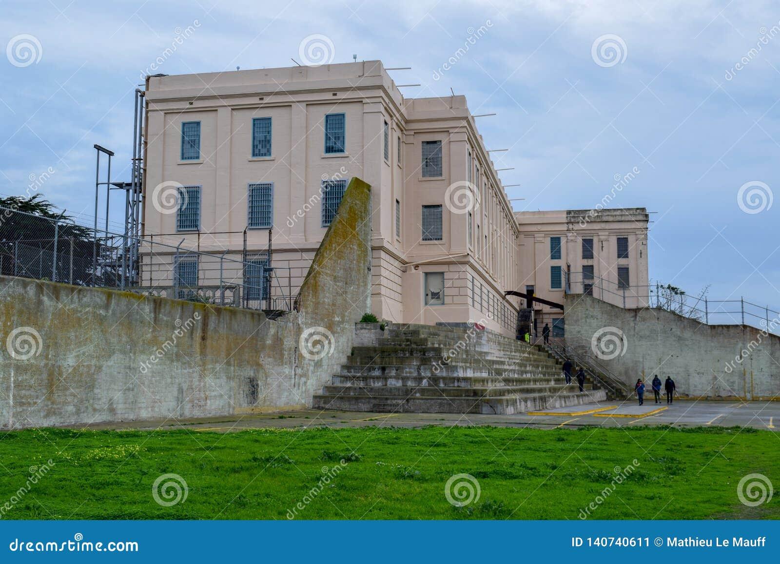 Yard de récréation de prison d Alcatraz