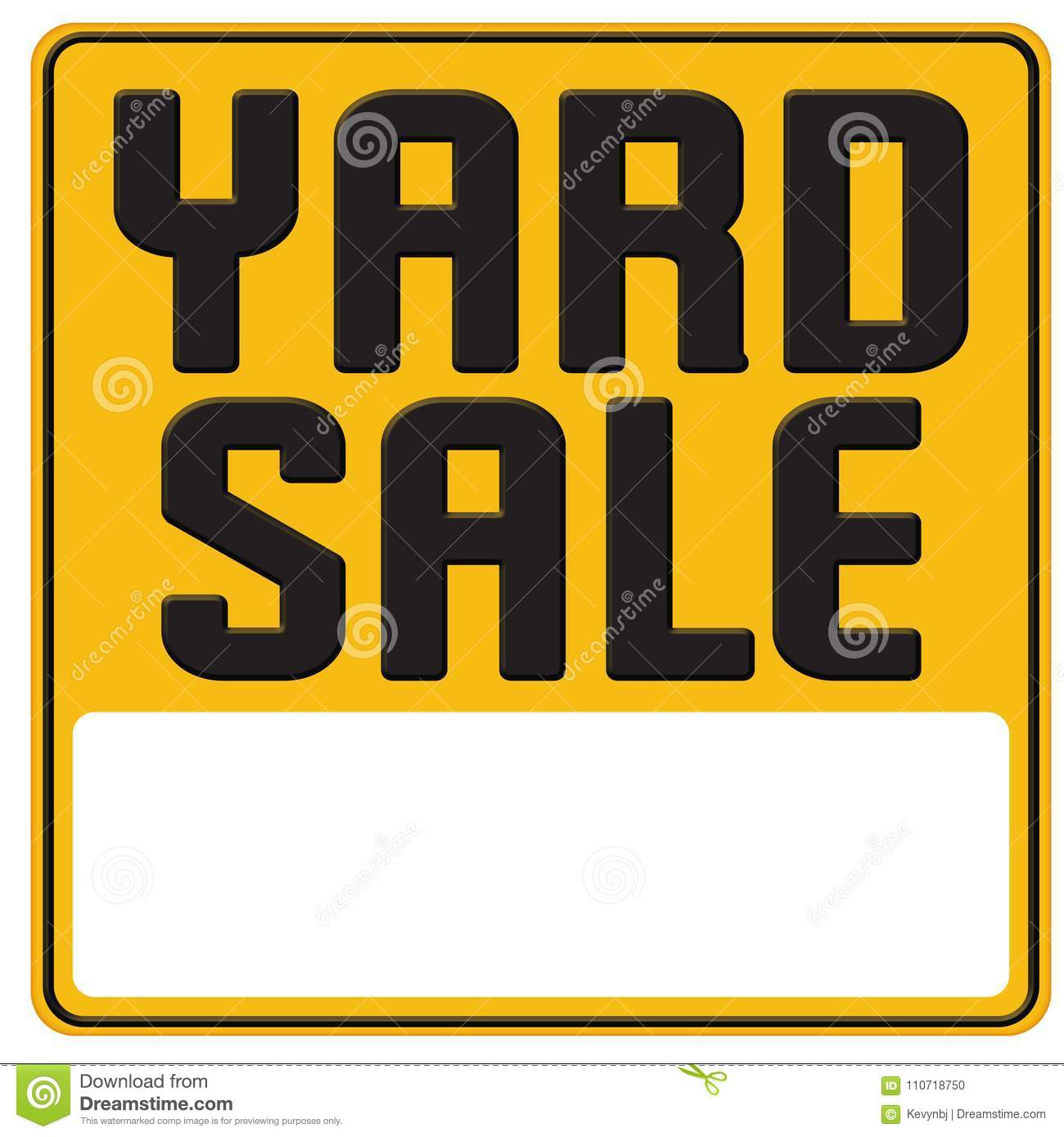 Yard Sale Sign Graphic Art Poster Stock Illustration