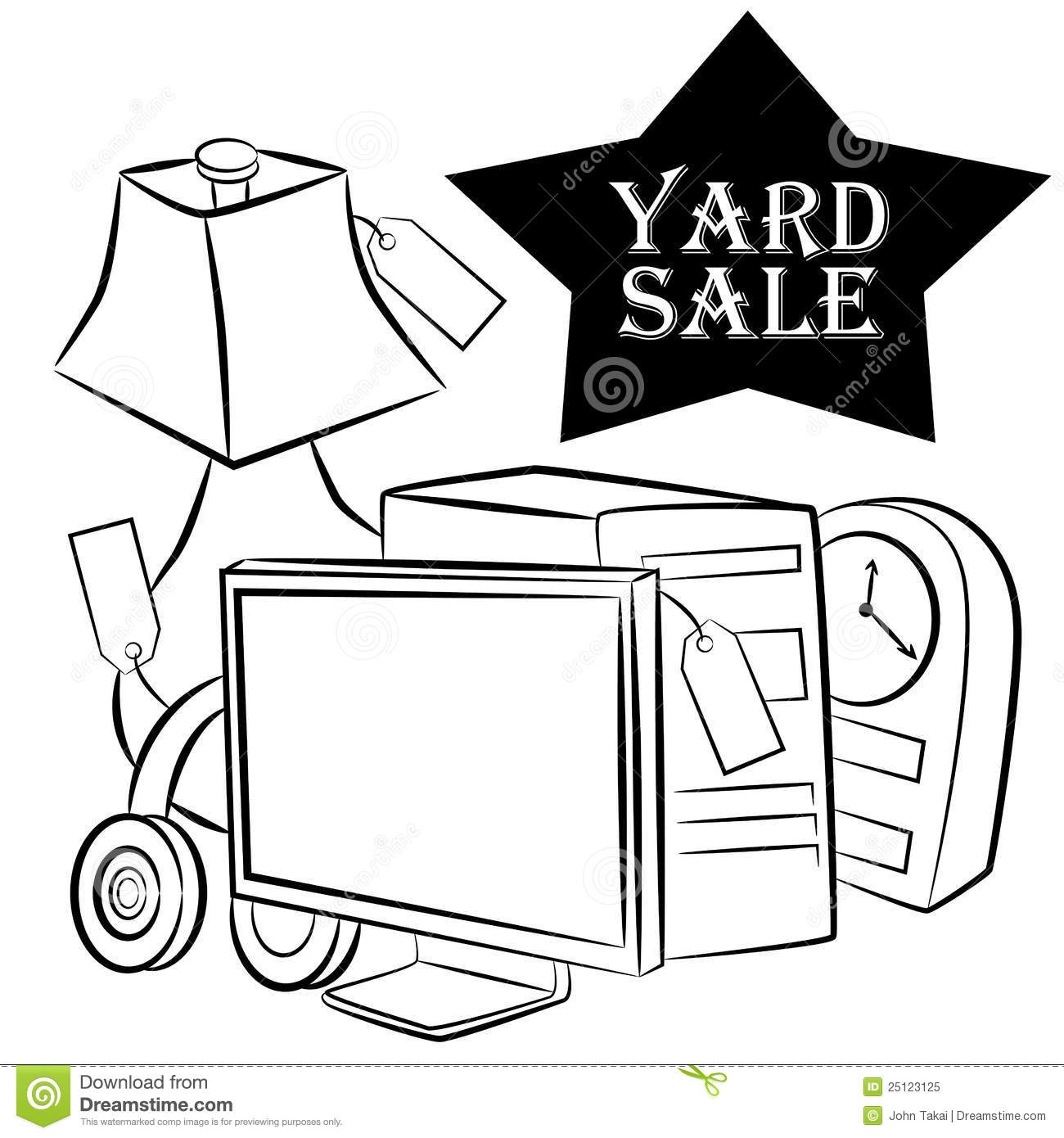 yard sale items royalty free stock photo