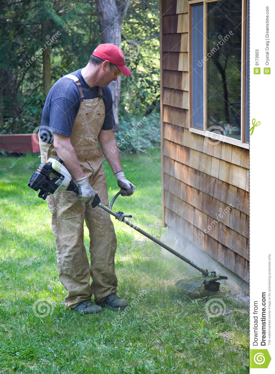 Yard Work Trimming Weed Eater Stock Photos Image 9173903