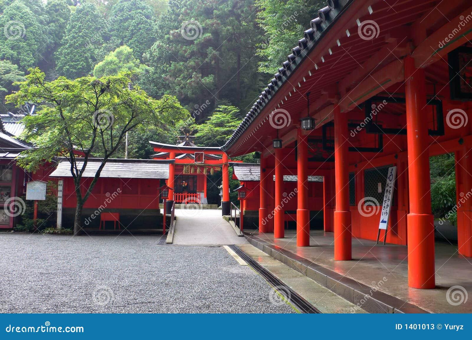 Yarda interna del templo japonés