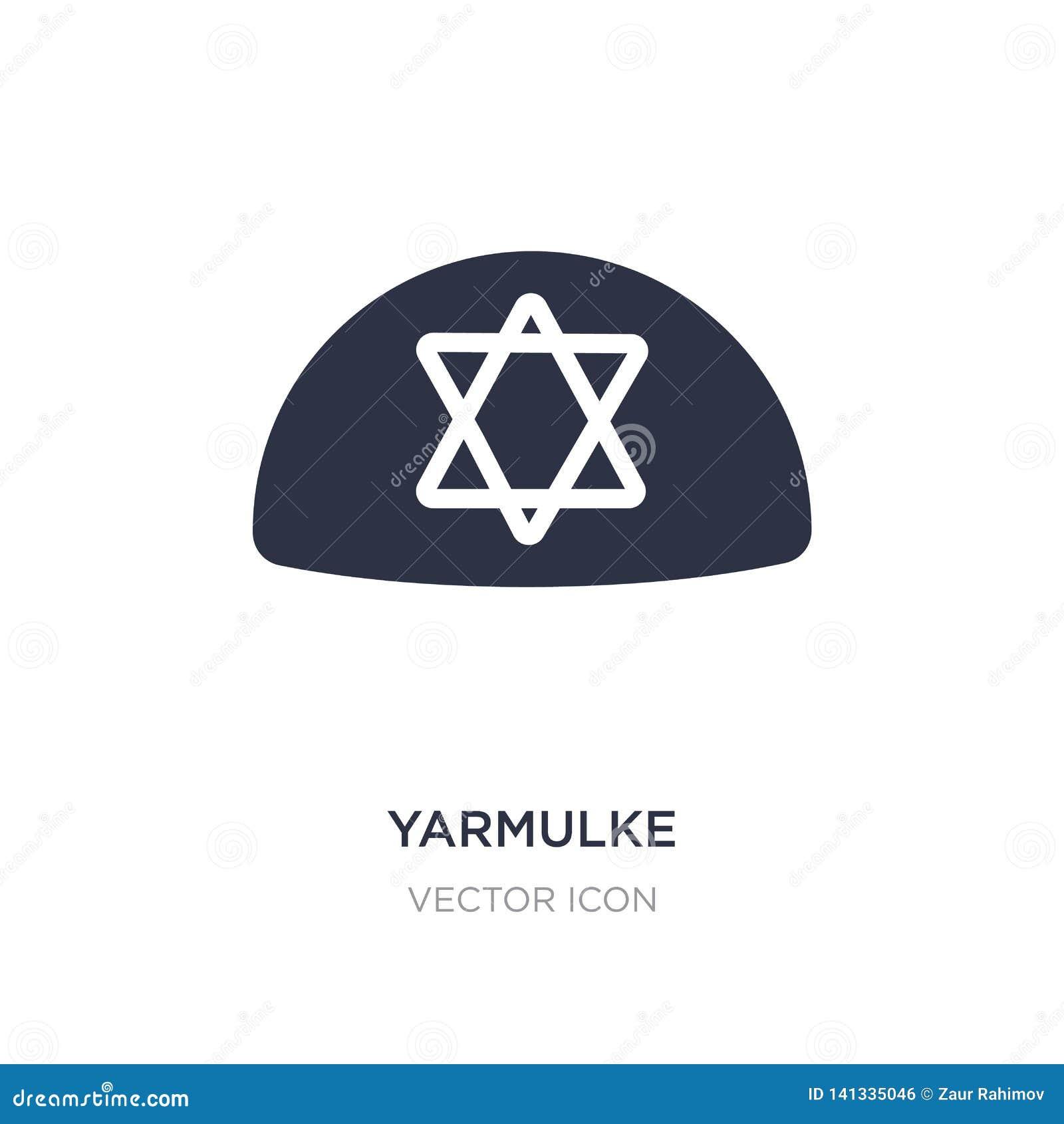 Yarmulke ikona na białym tle Prosta element ilustracja od religii pojęcia