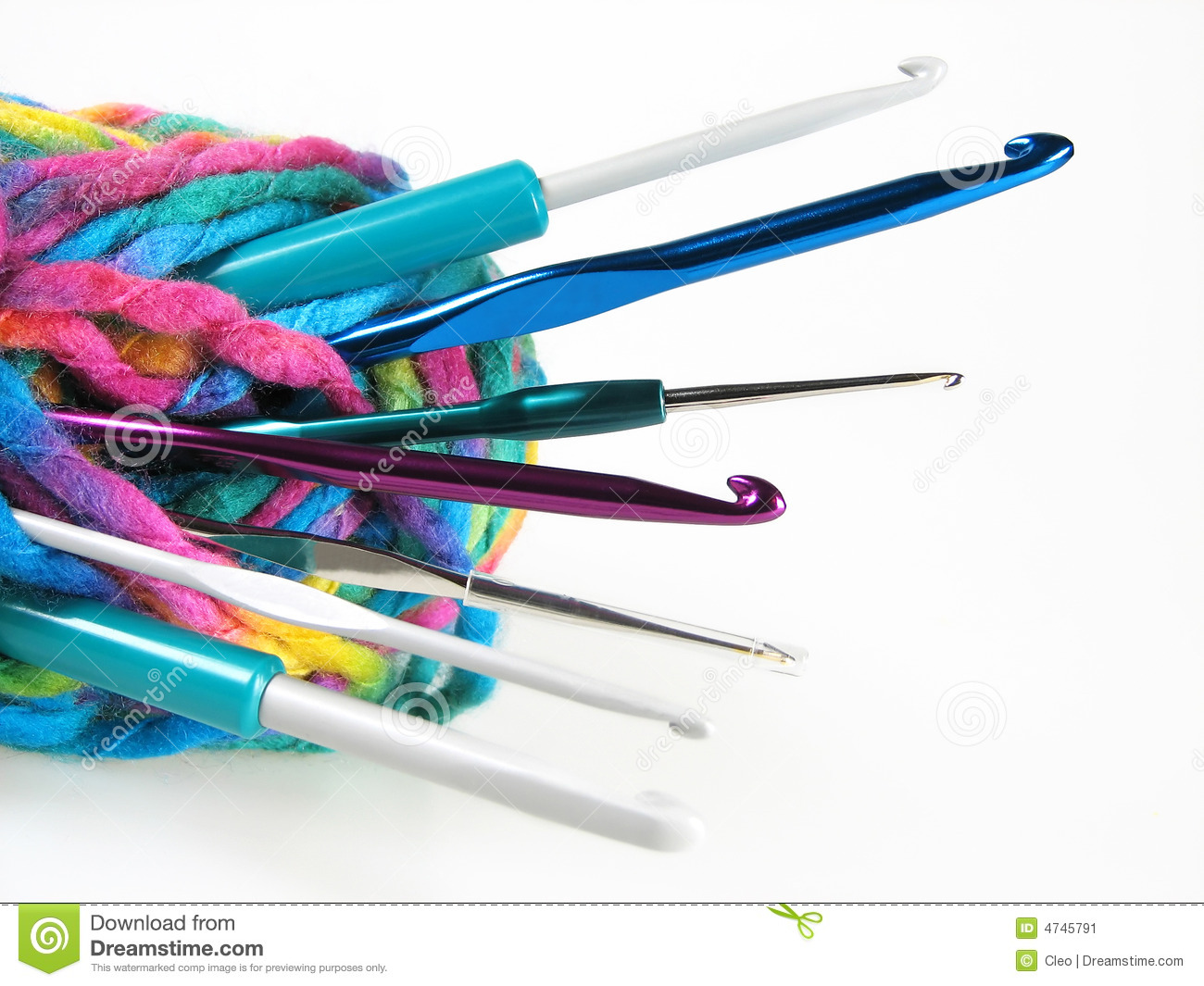 Yarn With Crochet Hooks Stock Image Image Of Gauge Scarf 4745791