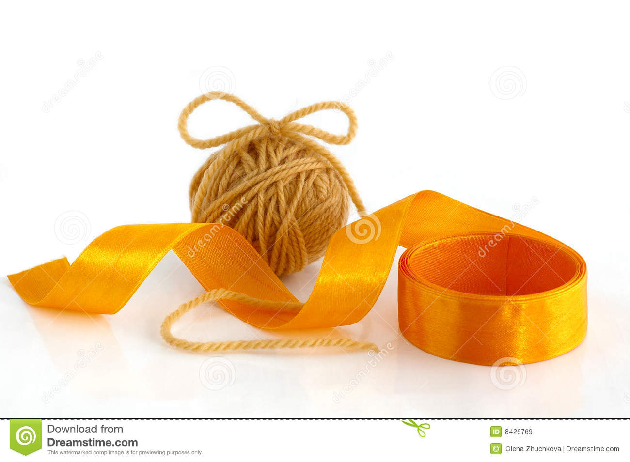 Yarn and ribbon