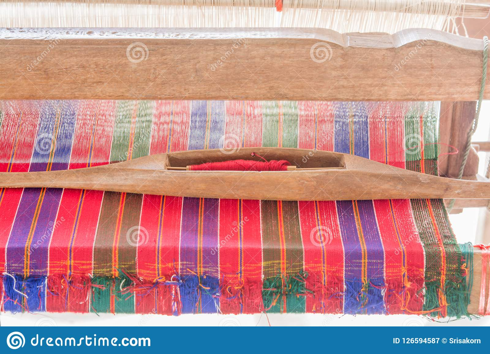 Yarn and weaving, hand-woven, crafts