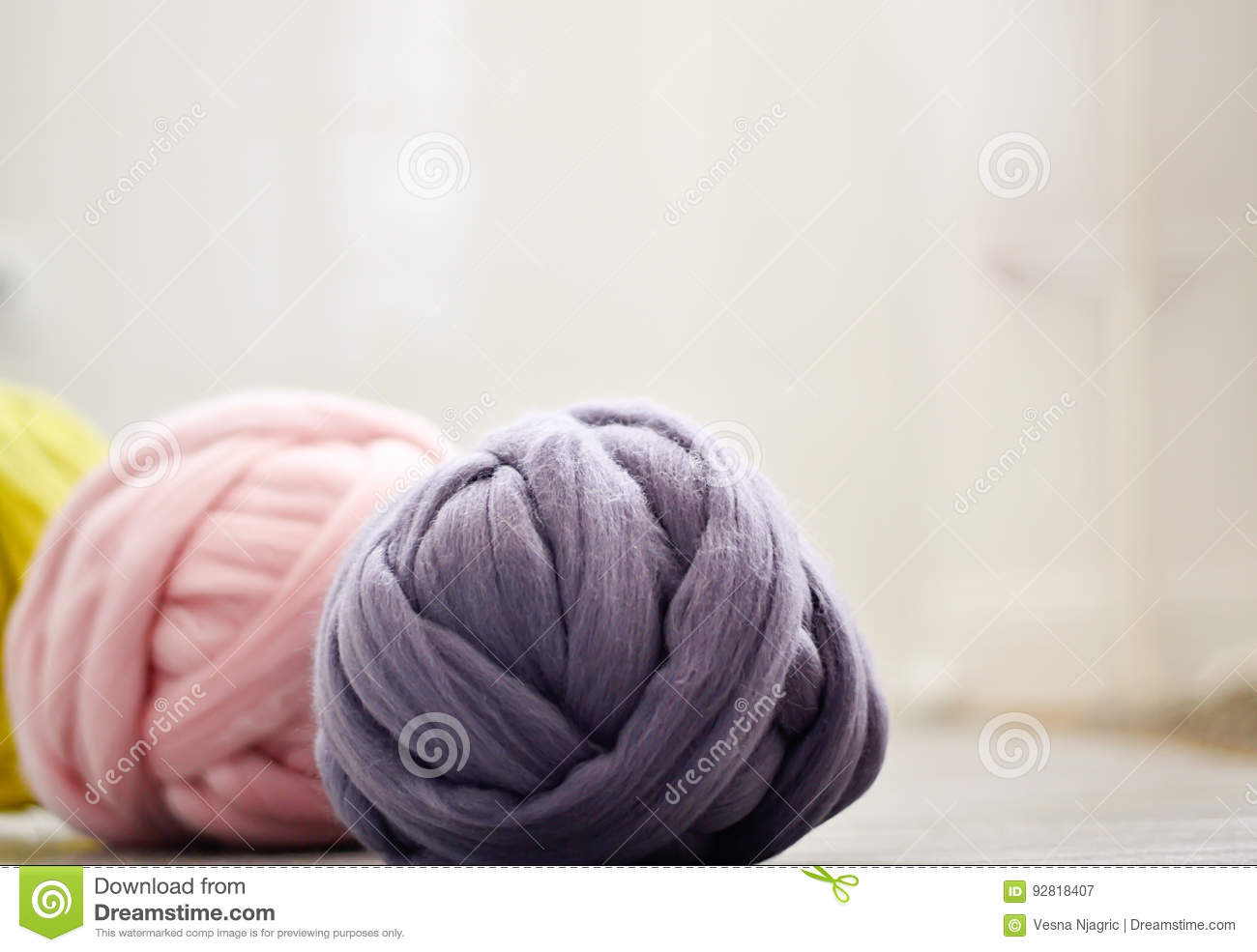 Yarns of merino wool
