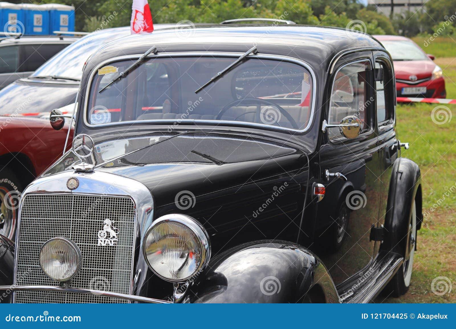 Yaslo Poland July The Old Black Passenger Car Of The - Car restoration shows