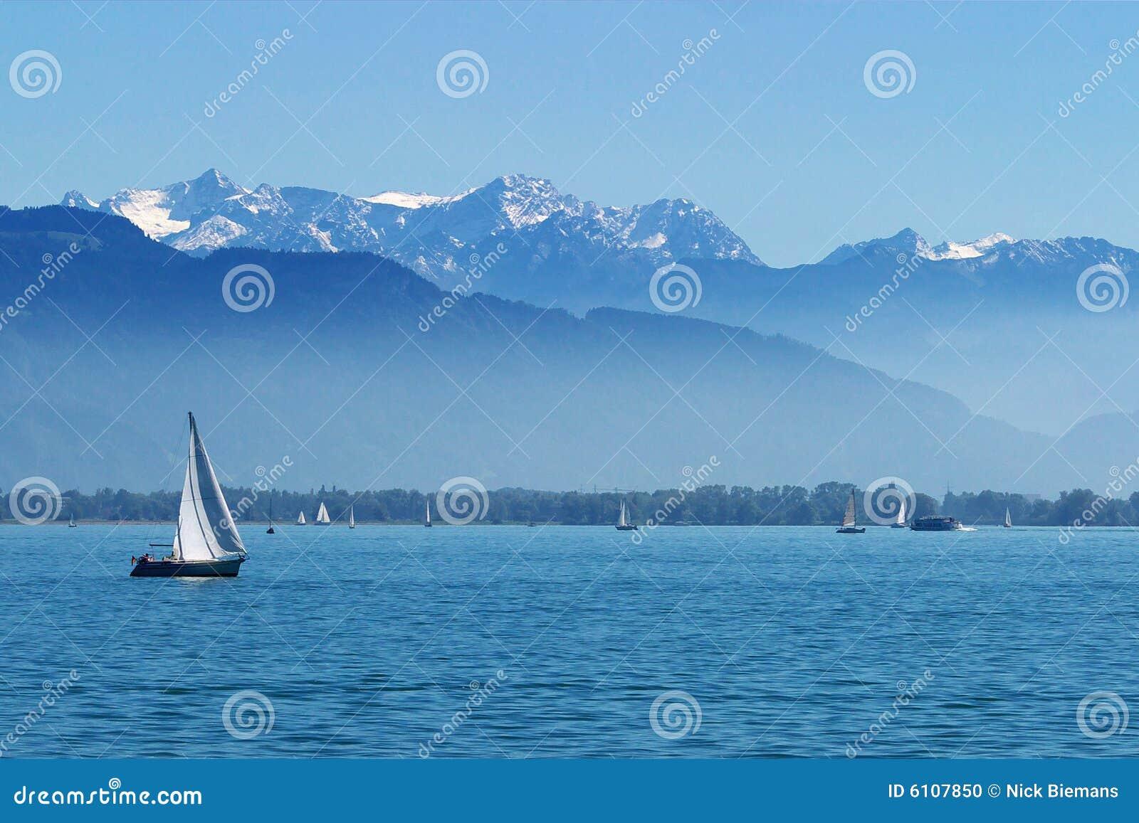 Yates en el lago Constance