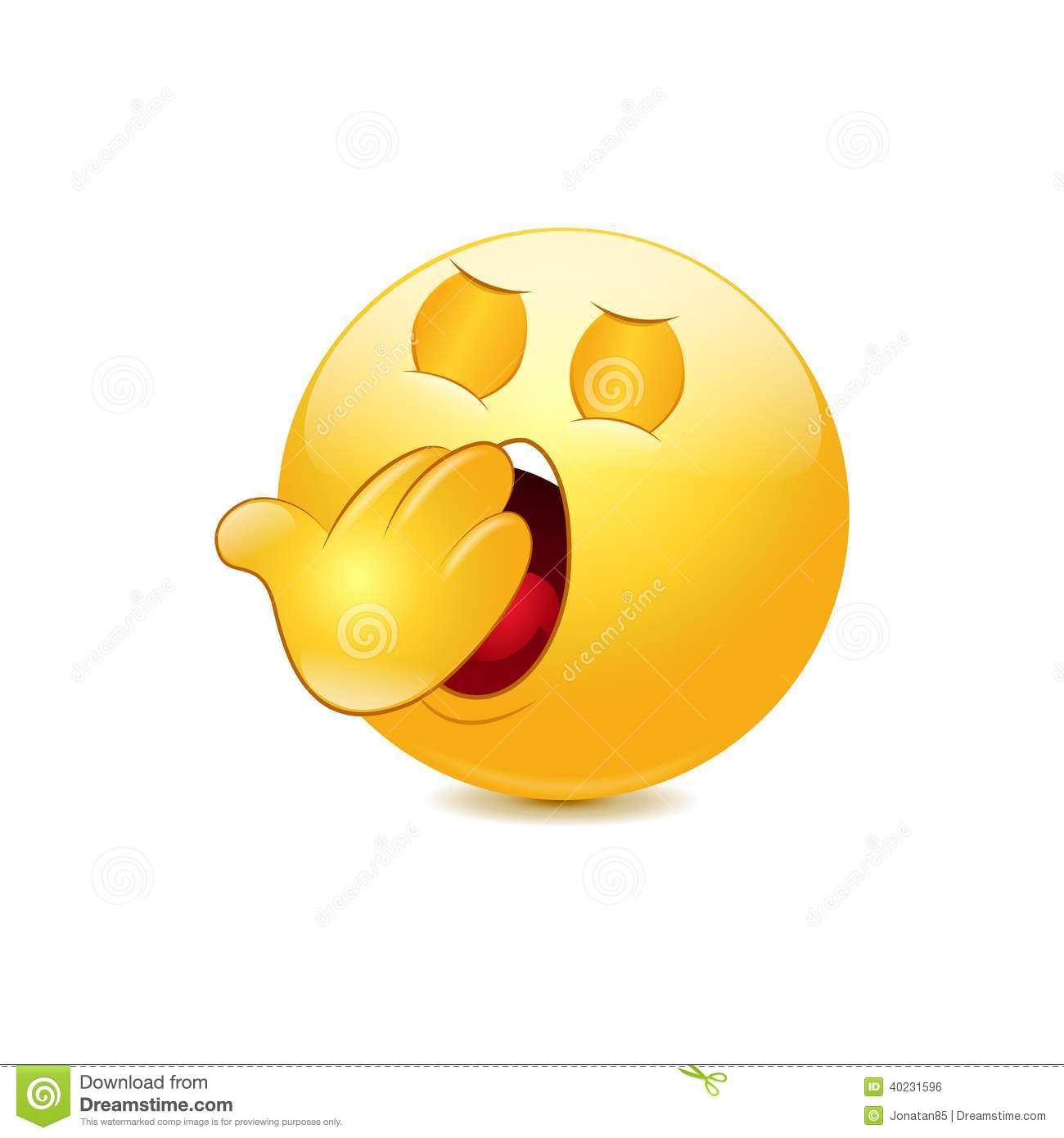 Yawn Emoticon Stock Vector - Image: 40231596