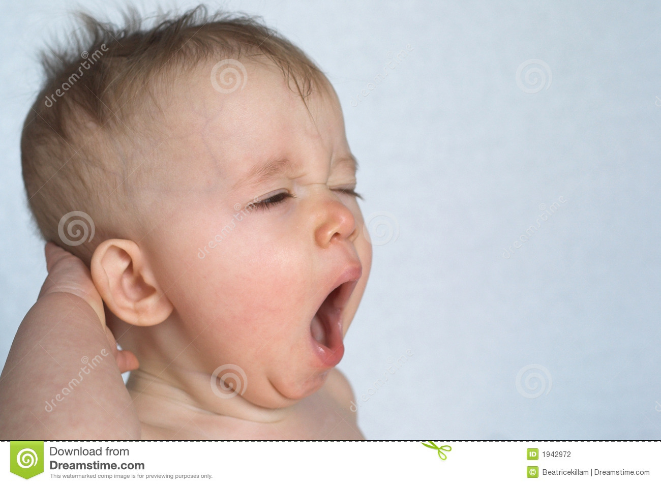 yawning baby stock photography   image 1942972