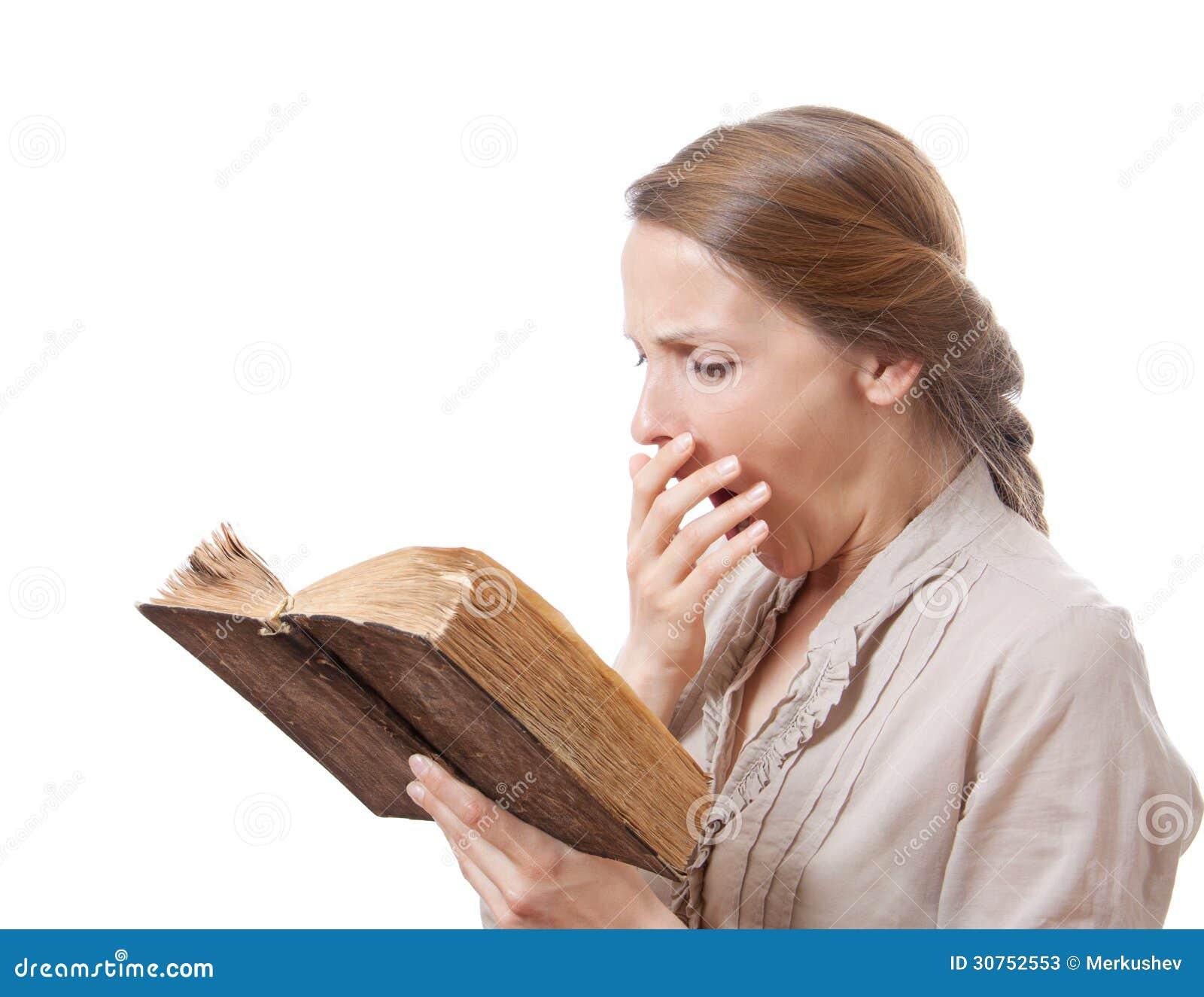 stock book Girl reading