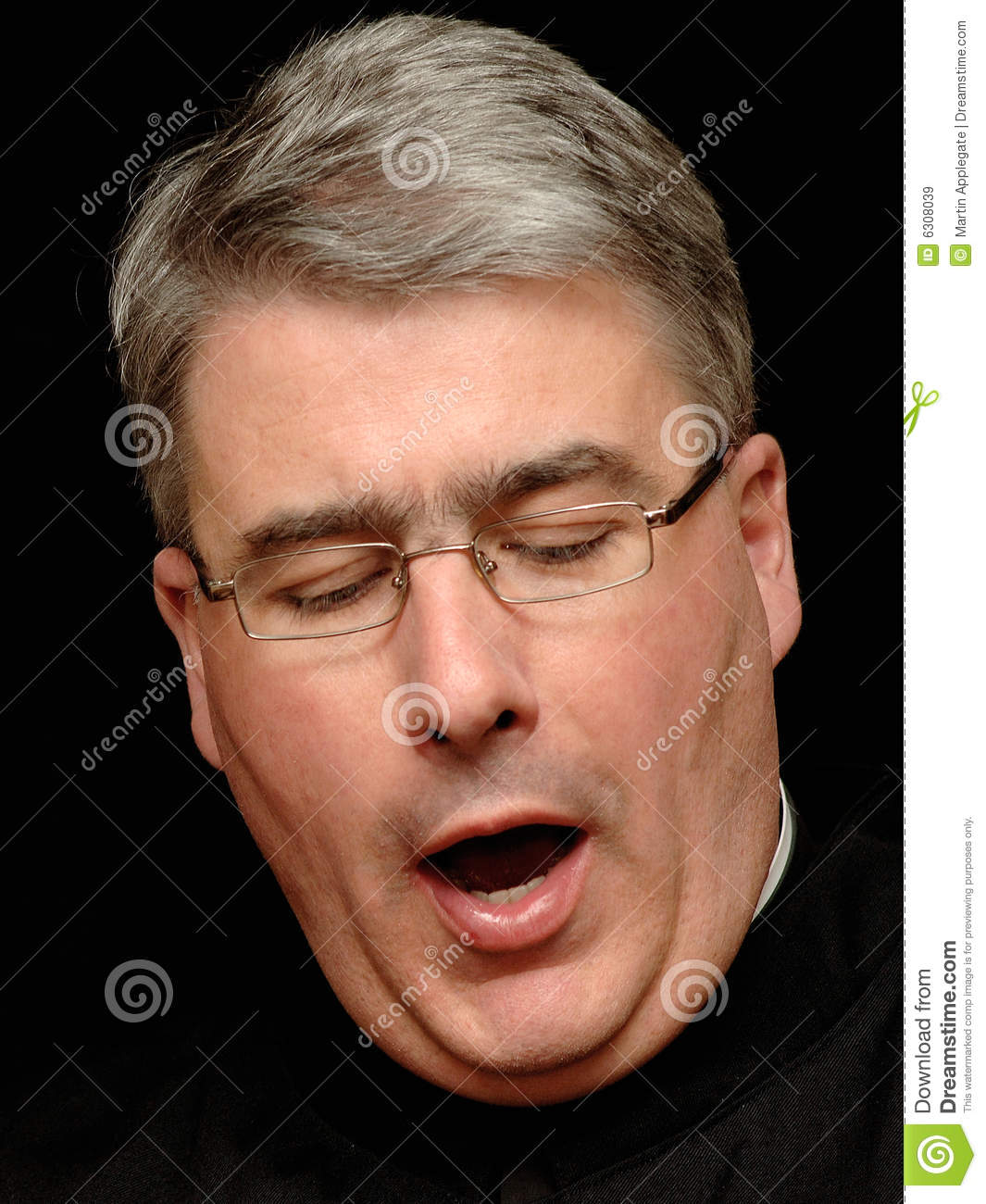 Yawning Priest Royalty Free Stock Images - Image: 6308039