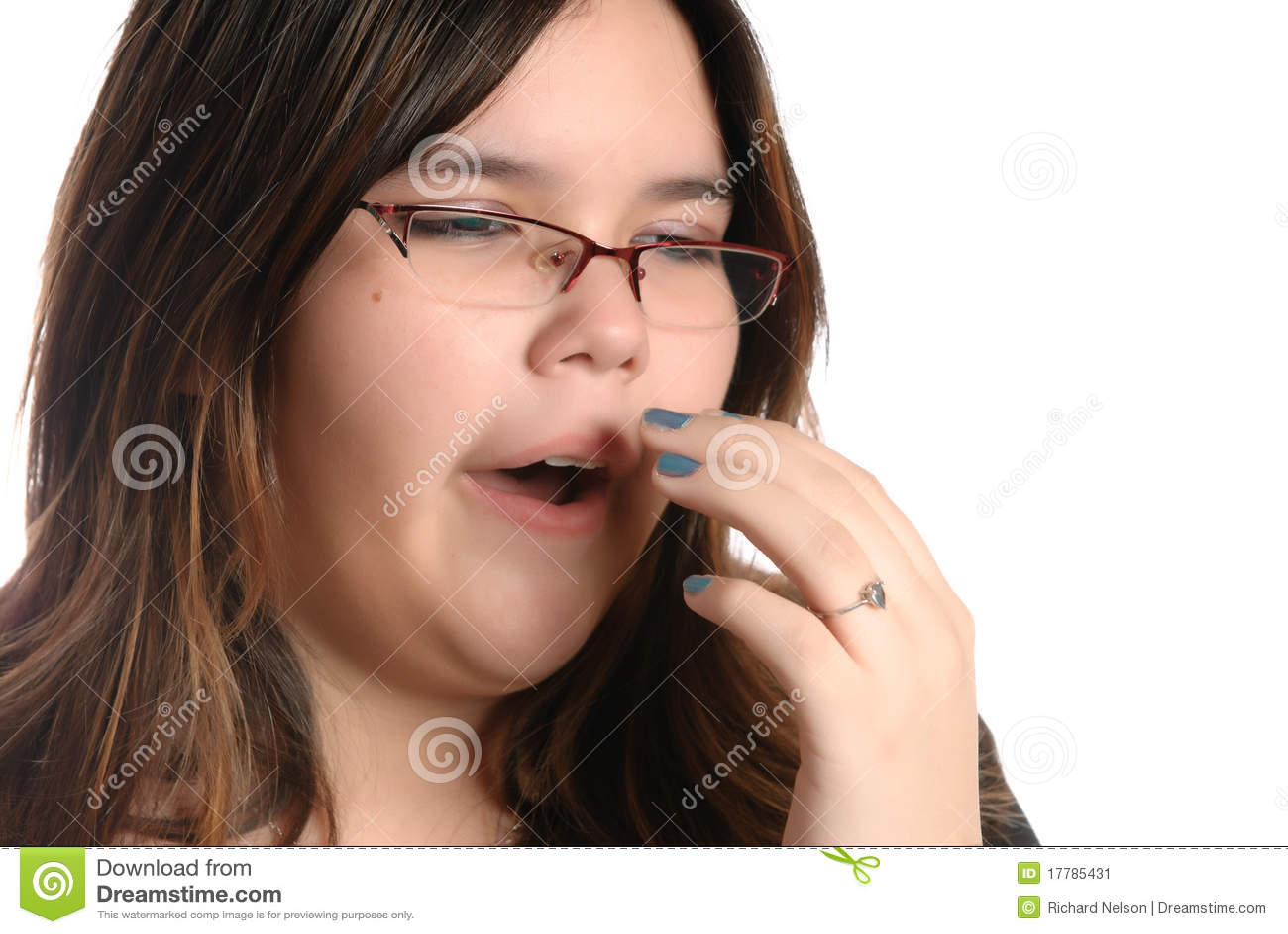Yawning Teenage Girl