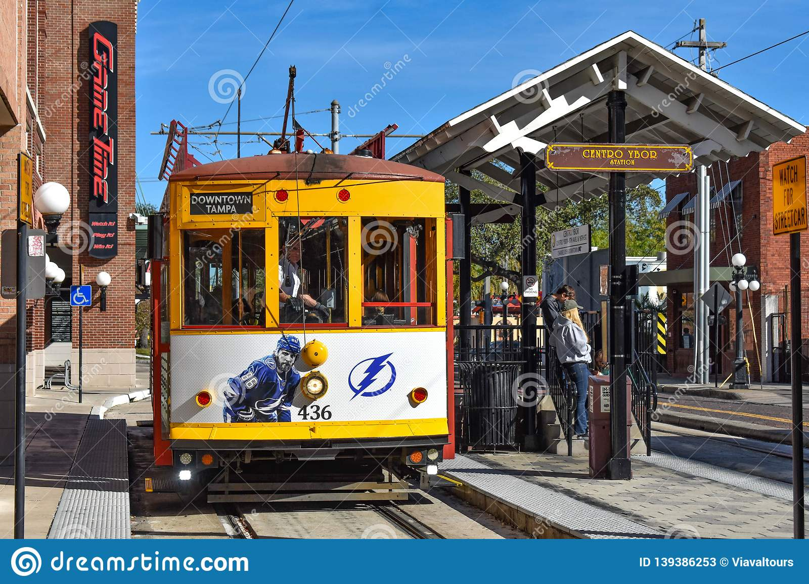 Street Car Station In 8th Ave  Ybor City Is A Historic