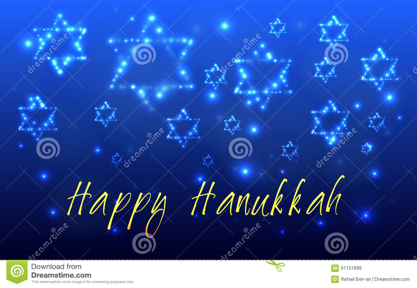 Żydowski wakacyjny Hanukkah kartka z pozdrowieniami