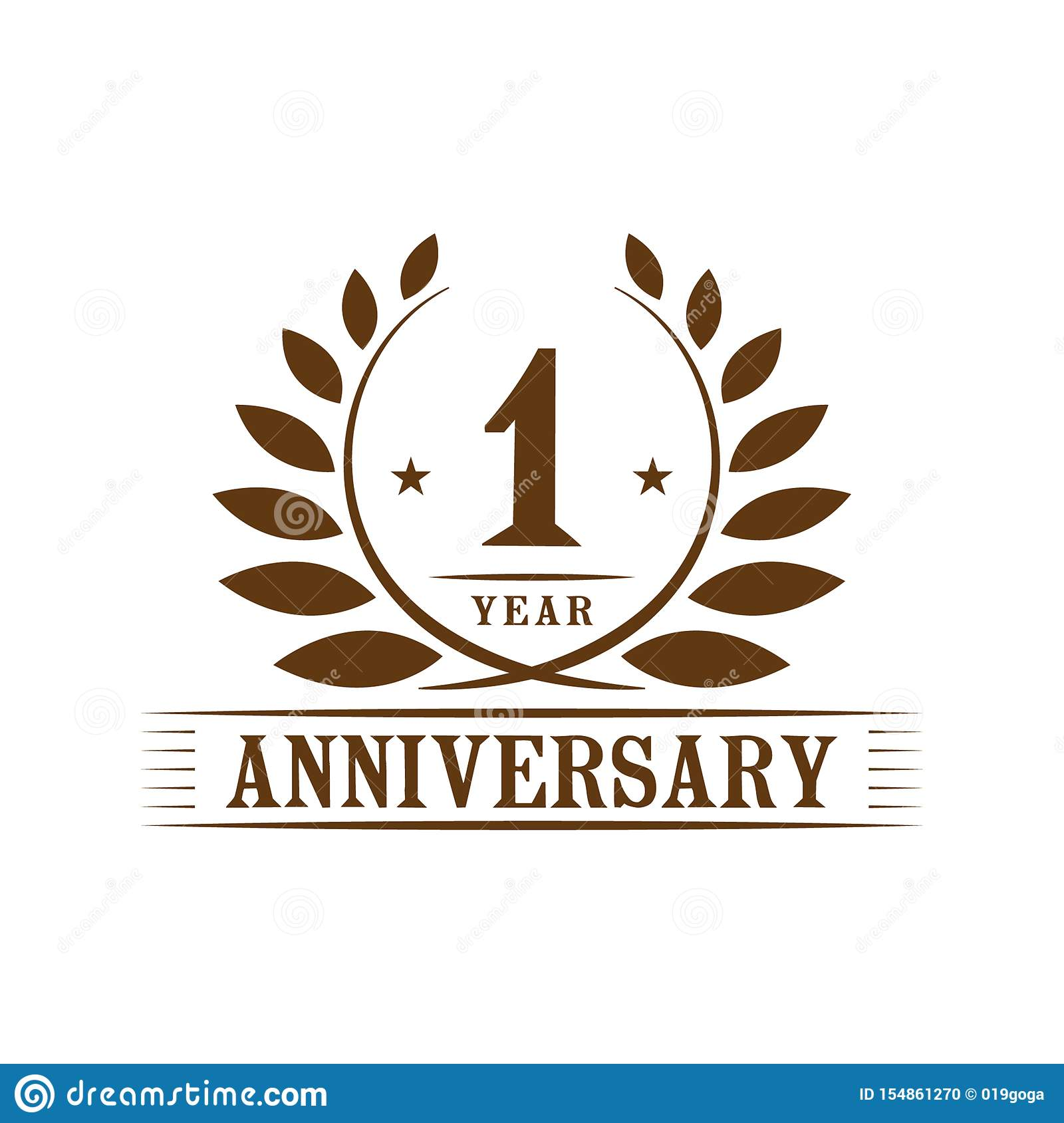 1 year anniversary celebration logo 1st anniversary luxury design template vector and illustration stock vector illustration of ceremony icon 154861270 https www dreamstime com year image154861270