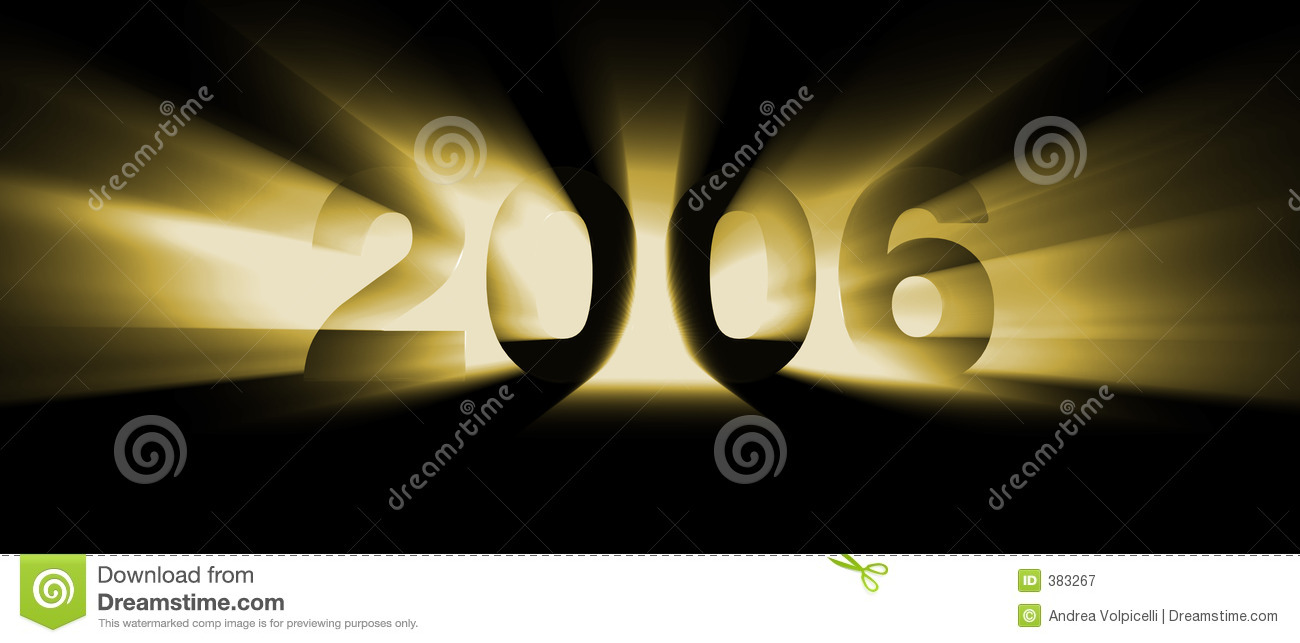 year 2006 yellow royalty free stock photography