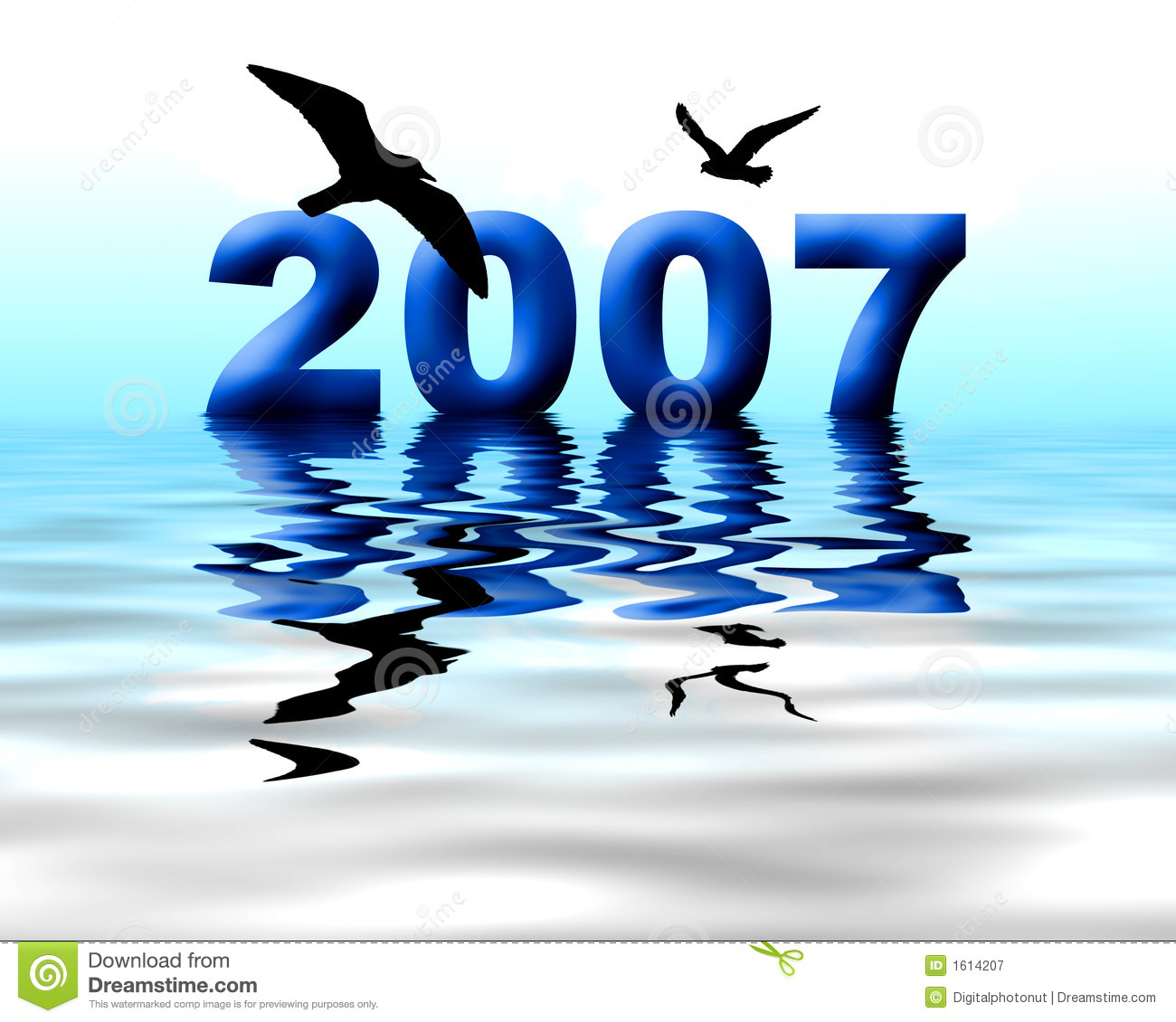 Year 2007 Stock Illustration  Illustration Of Reflections