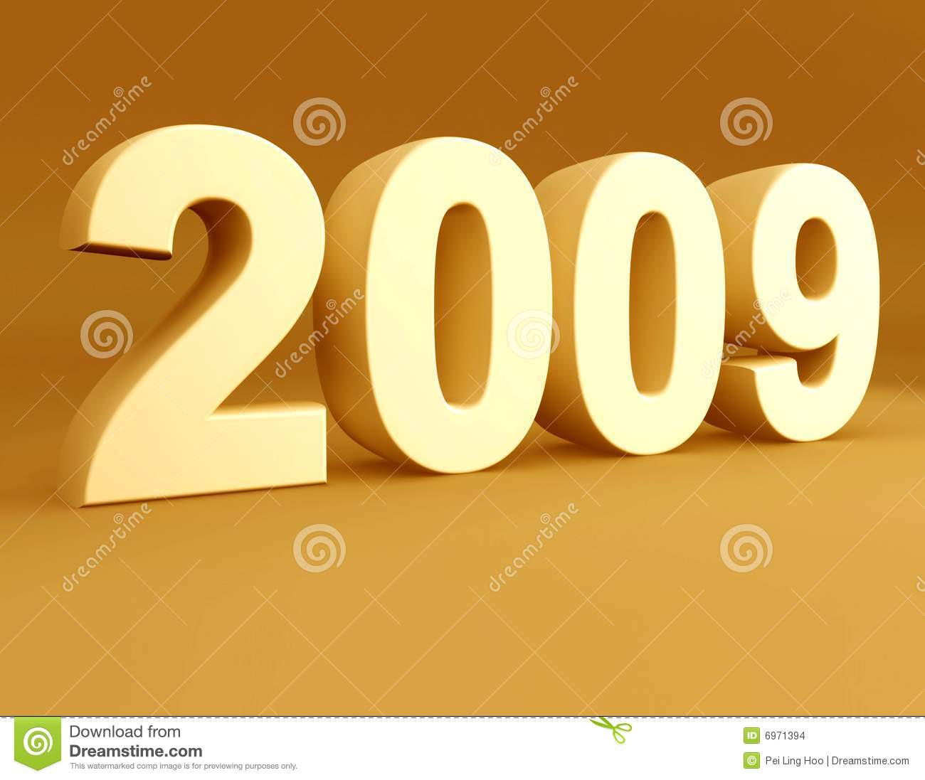 2009: Year 2009 3d Rendered Stock Illustration. Illustration Of