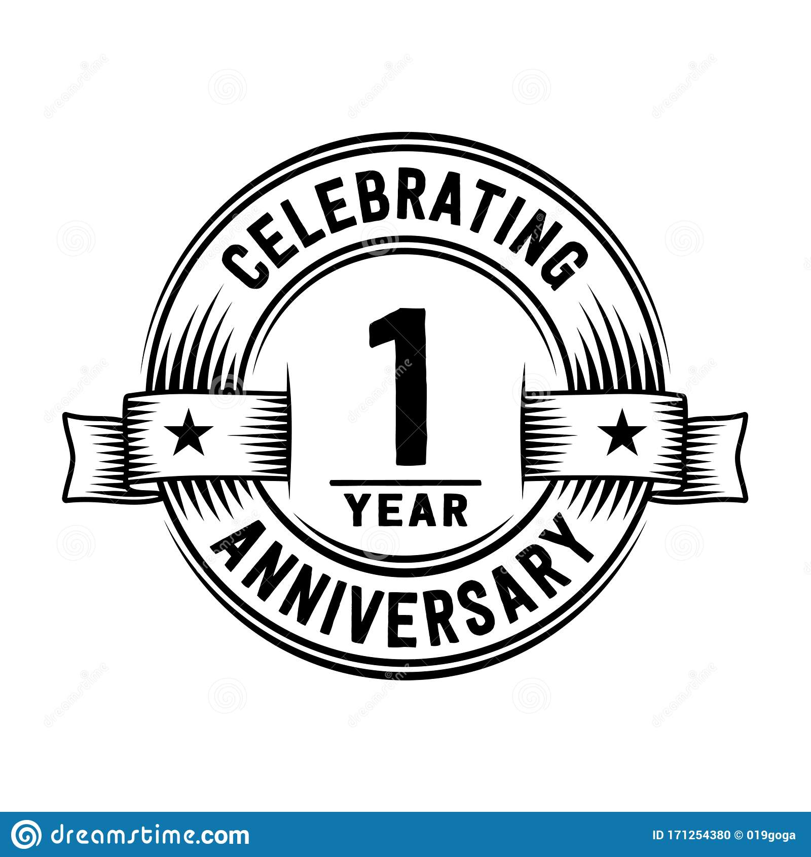 1 year anniversary celebration logotype 1st years logo vector and illustration stock vector illustration of business mark 171254380 https www dreamstime com year anniversary celebration logotype st years logo vector illustration design template one first image171254380