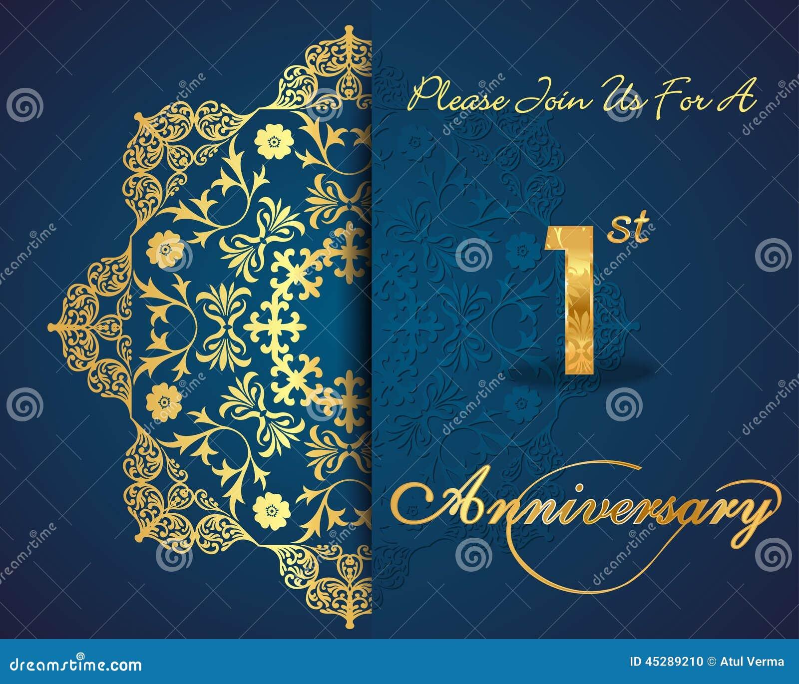 Year anniversary celebration pattern design st