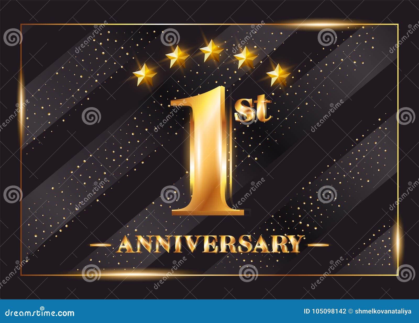 Year anniversary celebration vector logo st anniversary