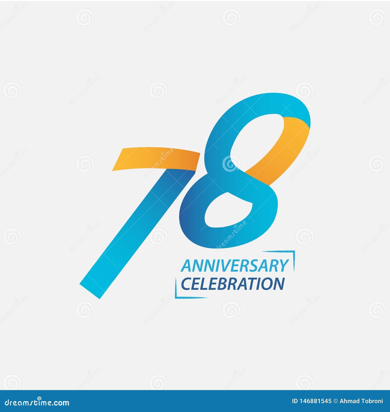 78 Year Anniversary Celebration Vector Template Design Illustration