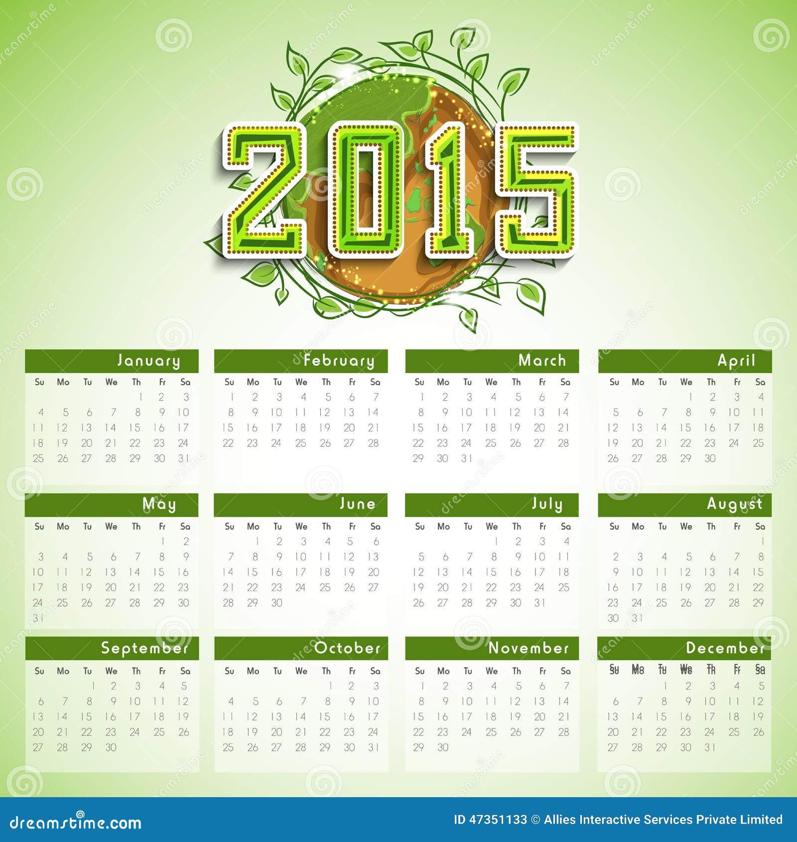 Calendar Design Concept : Year calendar design stock illustration image