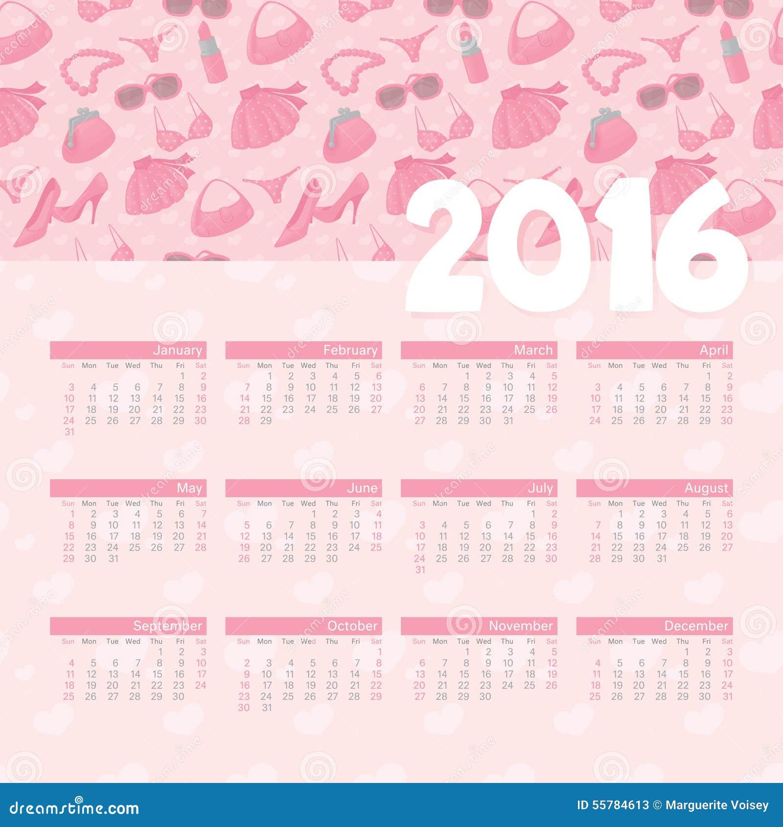 Calendar Girly : Year calendar girly stock illustration image of july