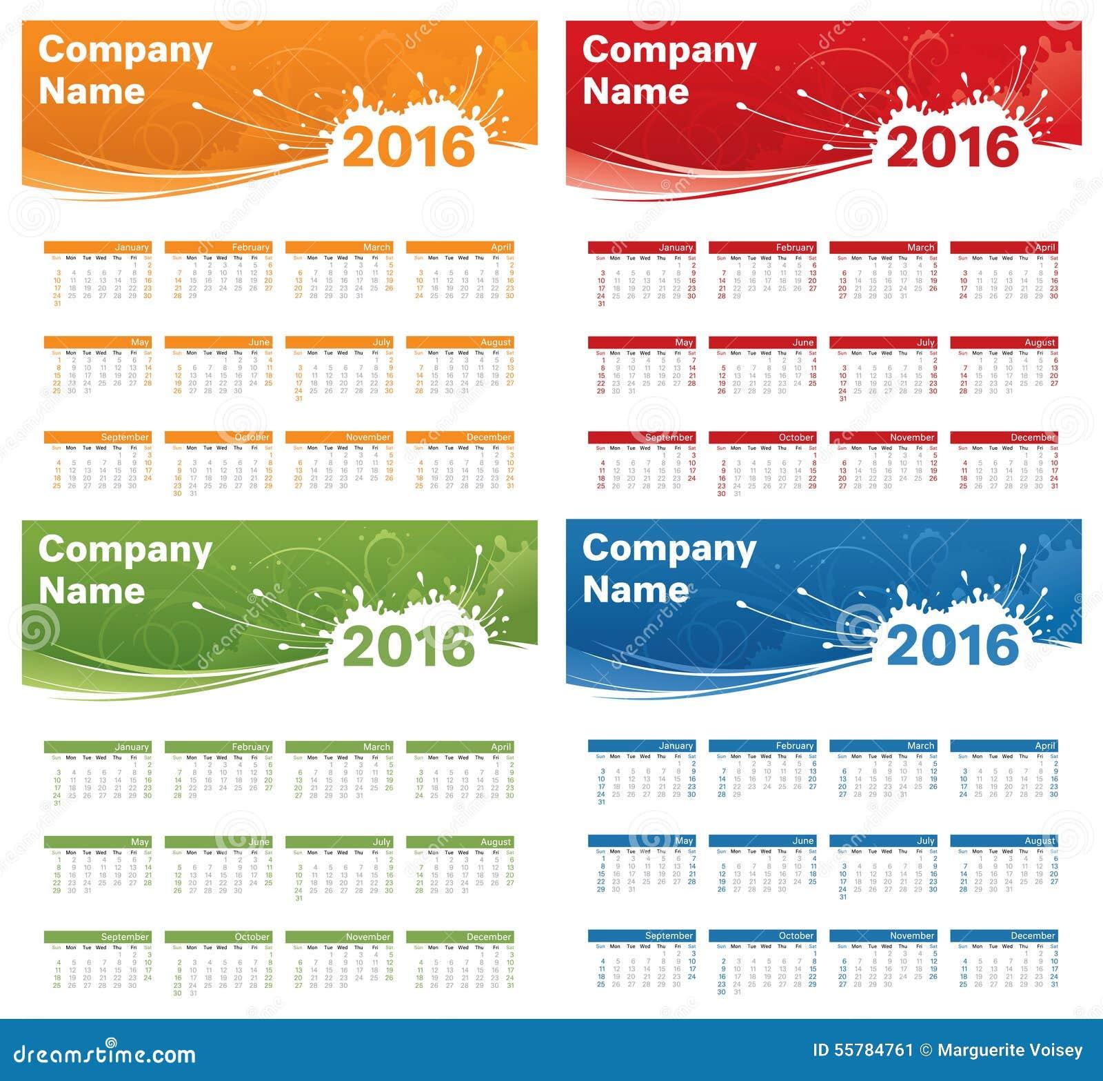 Calendar Logo : Year calendar logo space stock illustration image