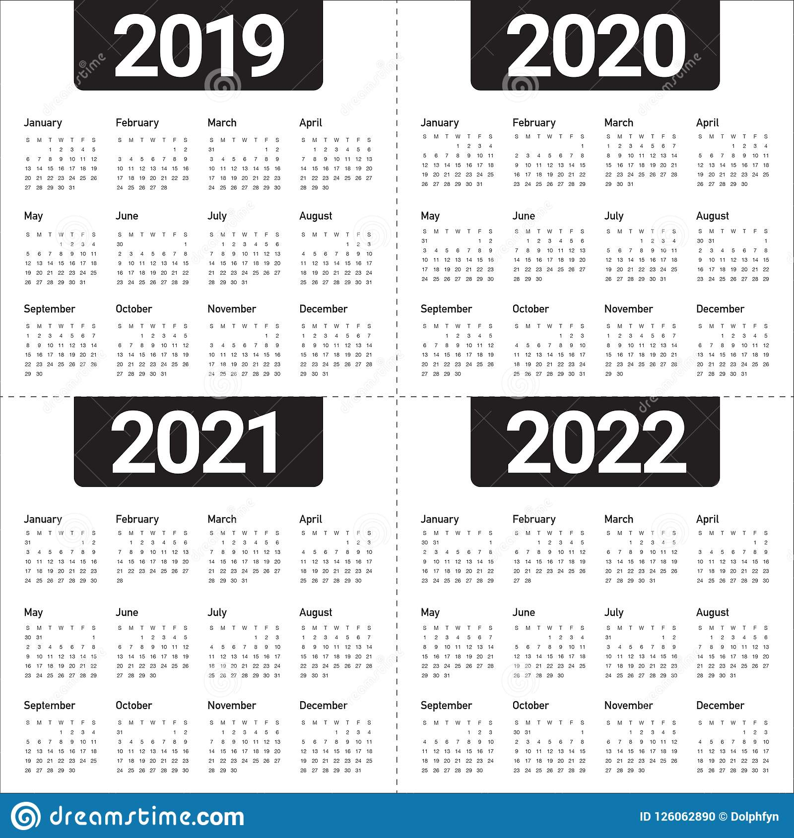 photograph regarding 2022 Calendar Printable named 12 months 2019 2020 2021 2022 Calendar Vector Structure Template