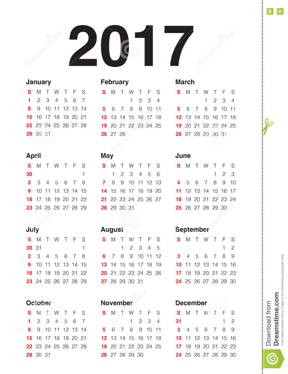 Yearly Calendar Design : Calendar year vector design template