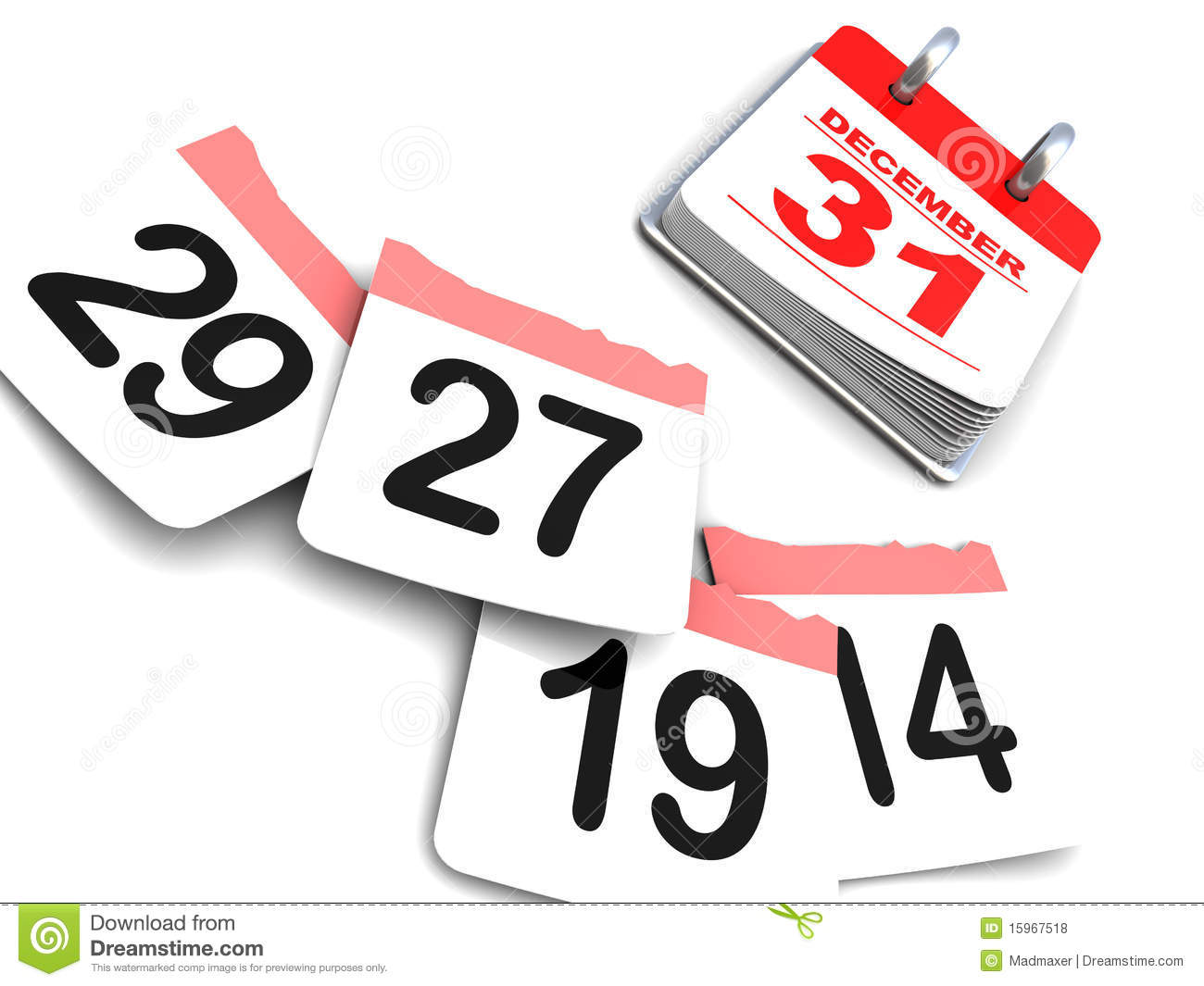 Calendar Year End : Year end royalty free stock photos image