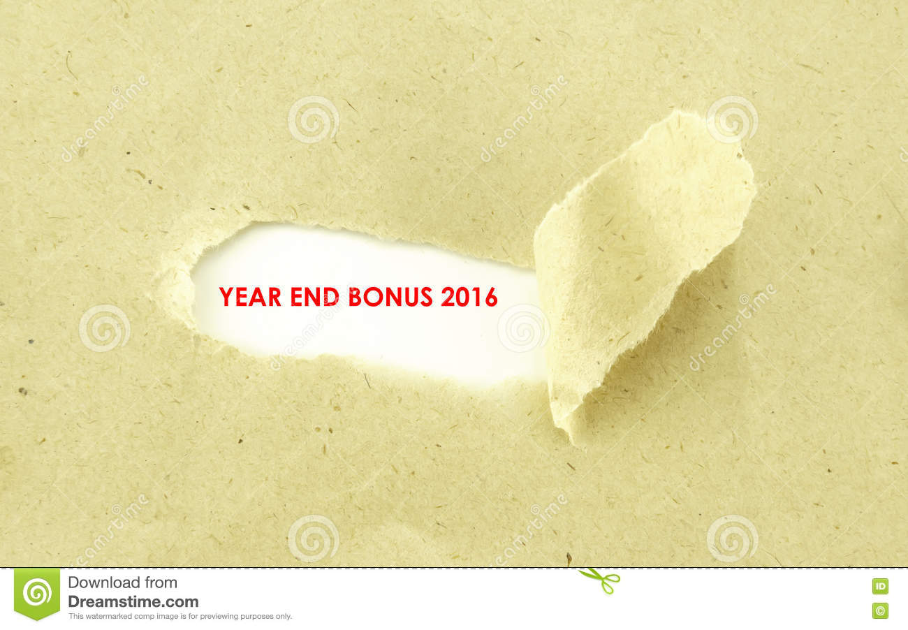 year end bonus stock photo image  year end bonus 2016