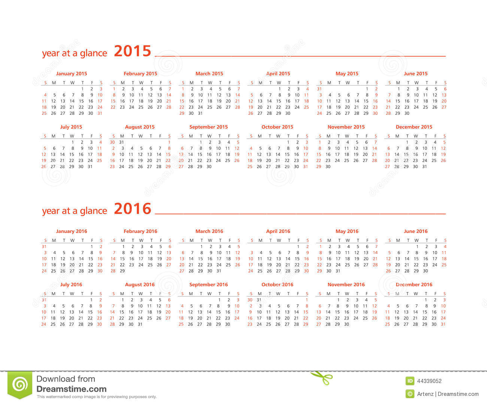 Calendar Templates Year At A Glance : Year at a glance wall calendar new