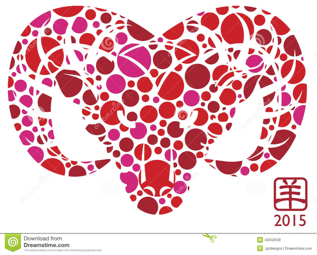 2015 lunar new year animal 2015 year of the goat polka dots stock vector image - 2015 Chinese New Year Animal