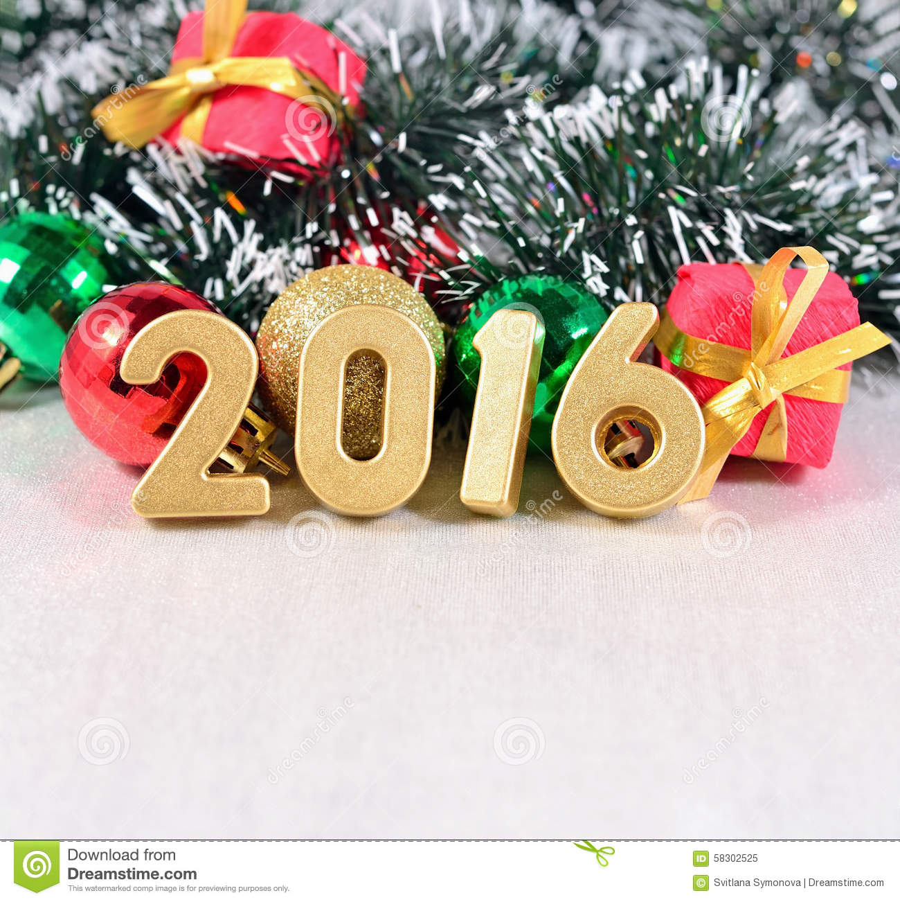 download 2016 year golden figures and christmas decorations stock image image of green 2016 - Christmas Decorations 2016