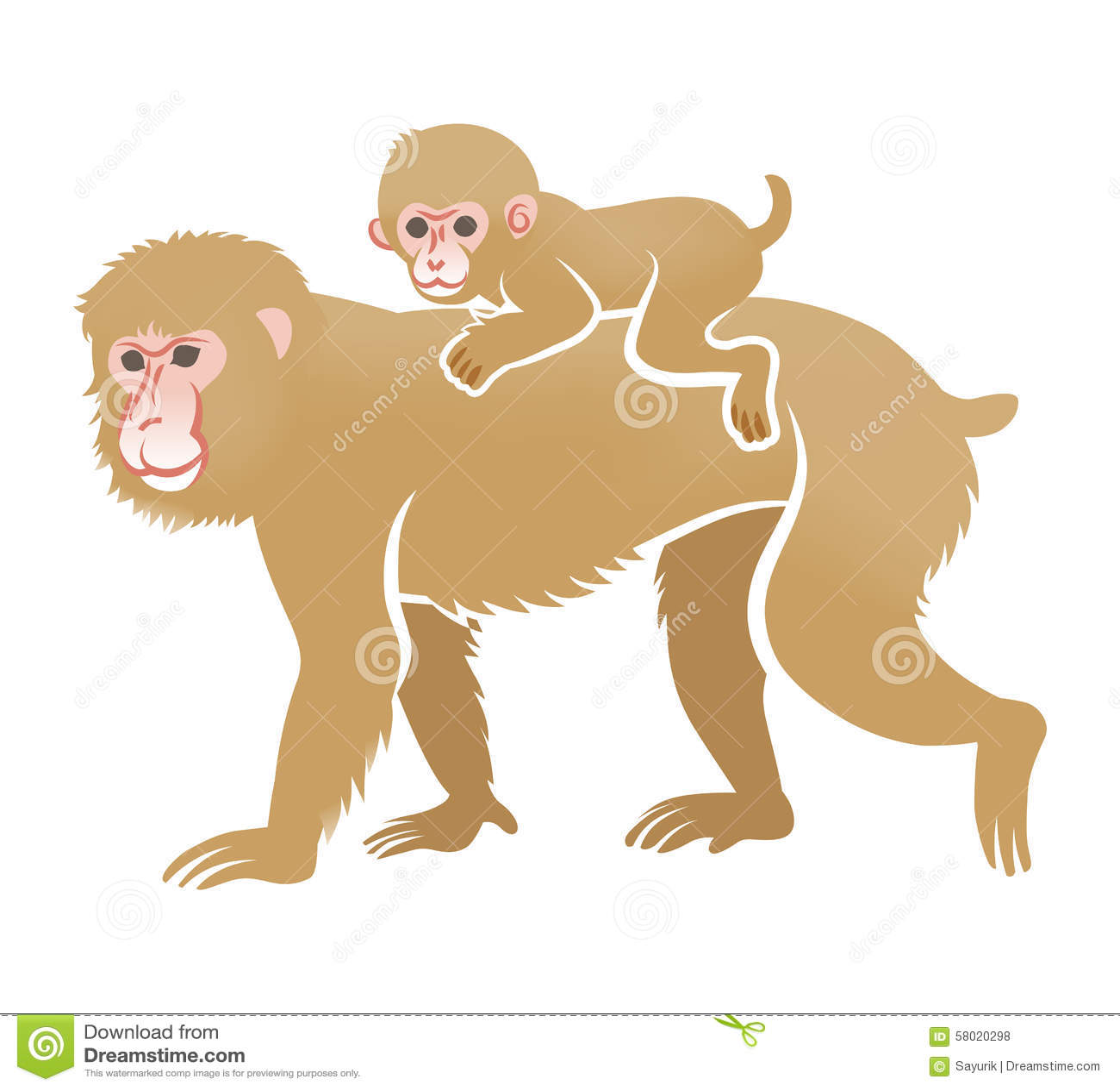 joy ride monkey and pig stock vector illustration of animals rh dreamstime com Monkey Border Clip Art Doctor Clip Art