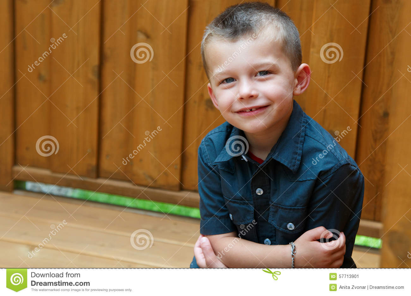 5 Year Old Boy Portrait Stock Photo Image 57713901