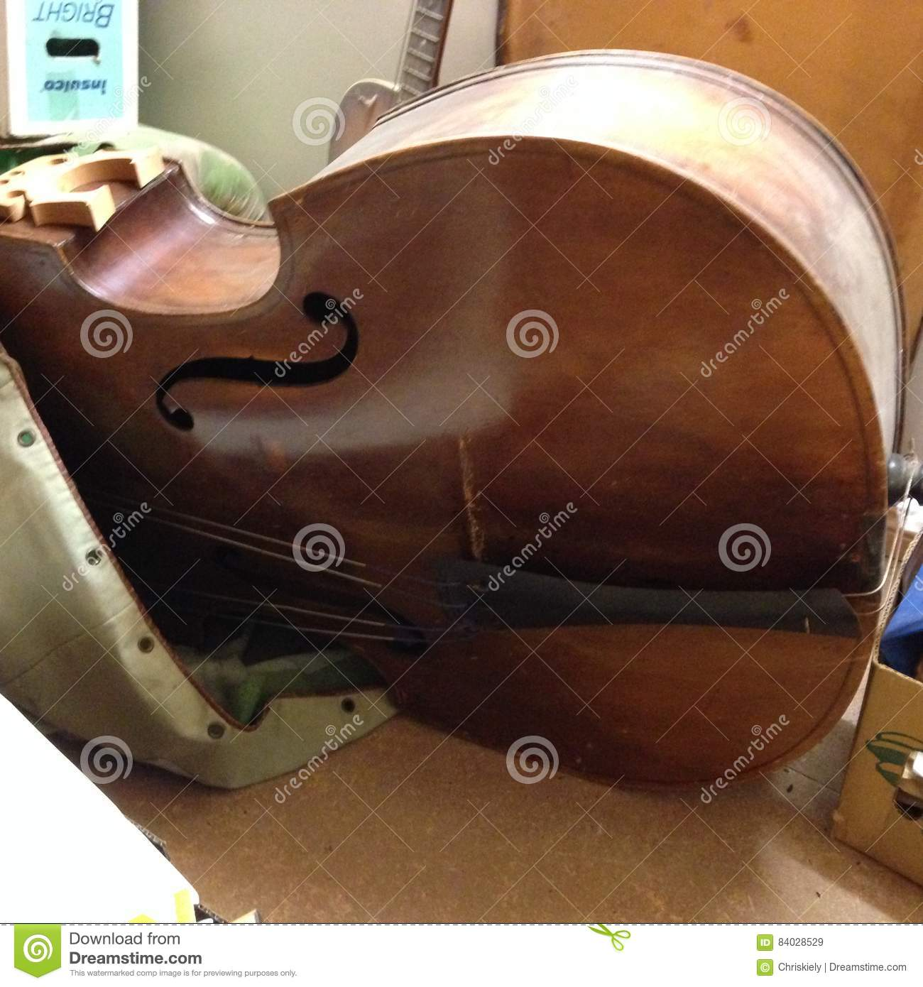 140 year old double bass guitar royalty free stock Paintings that are worth a lot of money