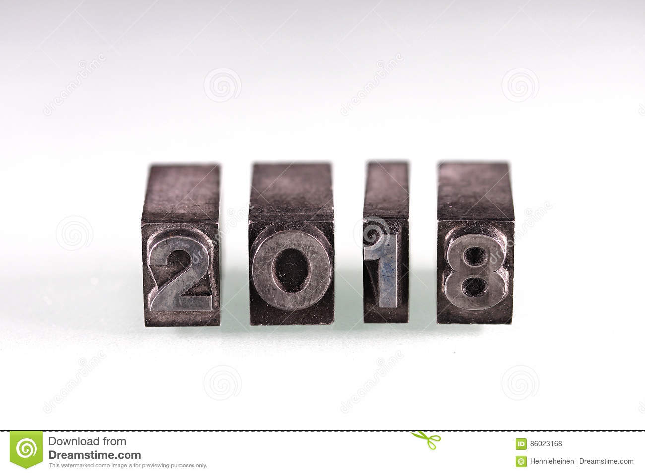 Metal Block Letters 2018  Year In Old Metal Block Letters Stock Photo  Image 86023168